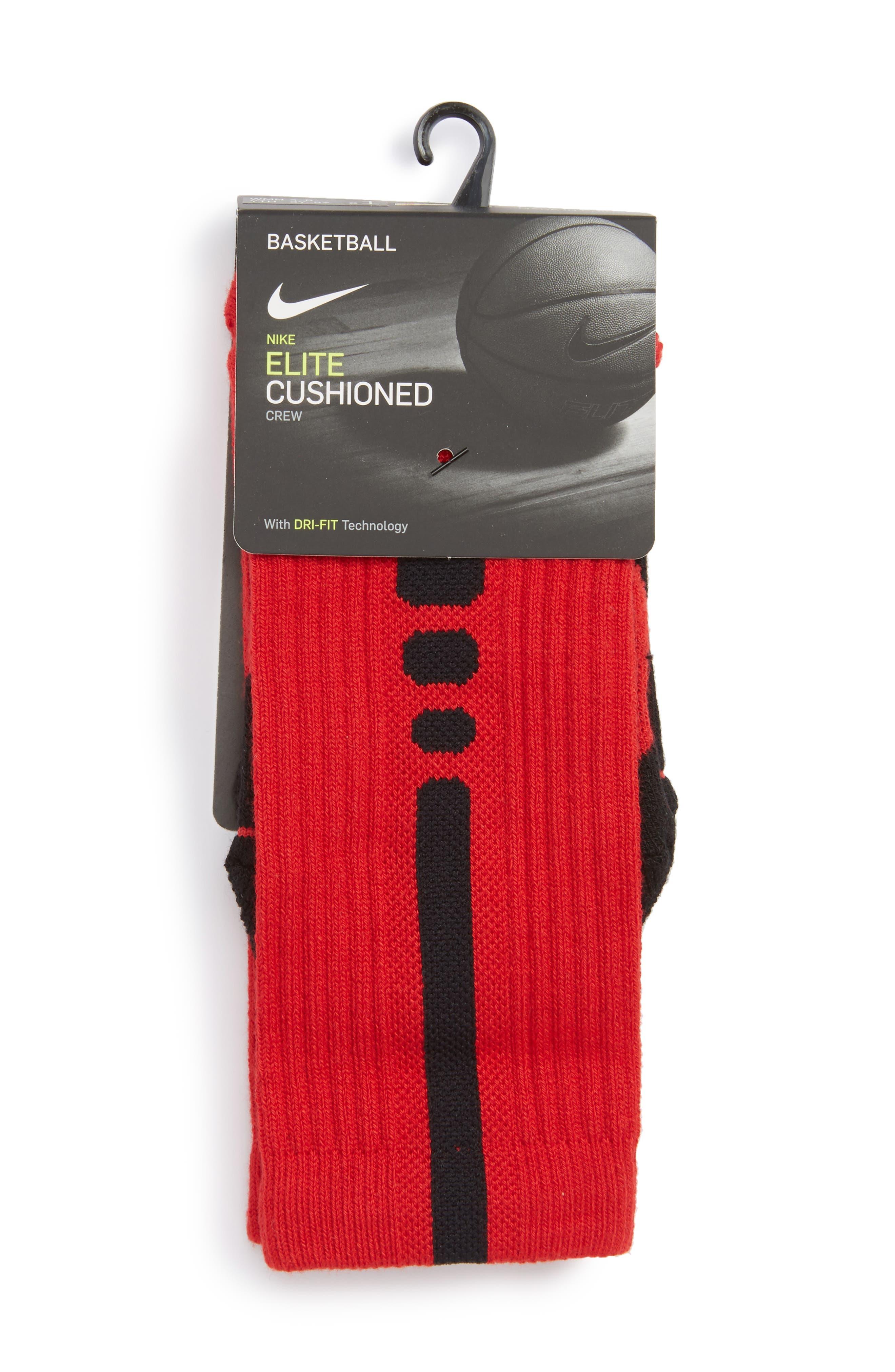 Alternate Image 2  - Nike Elite Versatility Crew Socks (Big Kid)