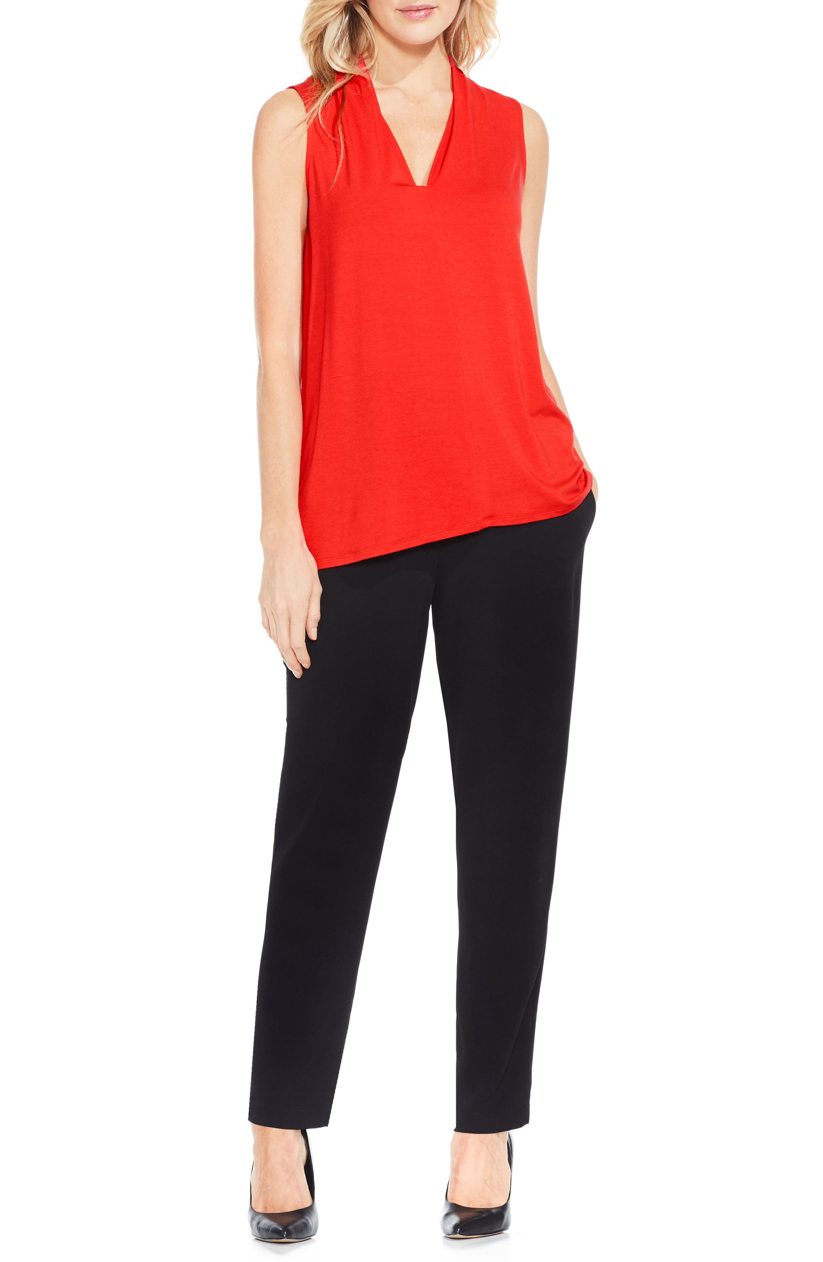 Alternate Image 2  - Vince Camuto V-Neck Jersey Top