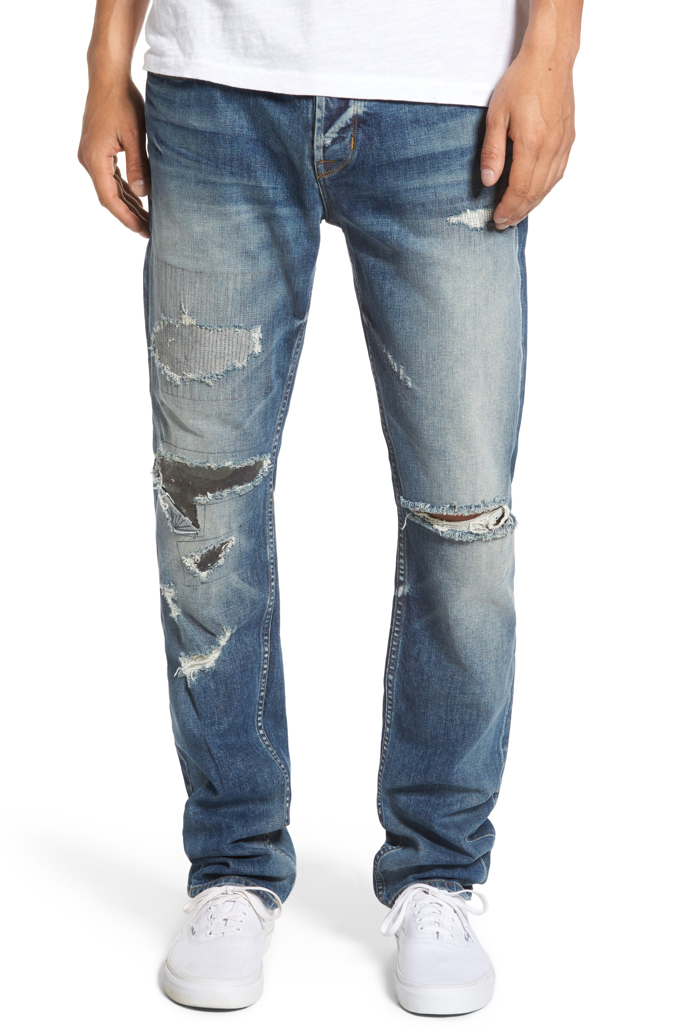 Sartor Slouchy Skinny Jeans,                         Main,                         color, Tail Gunner