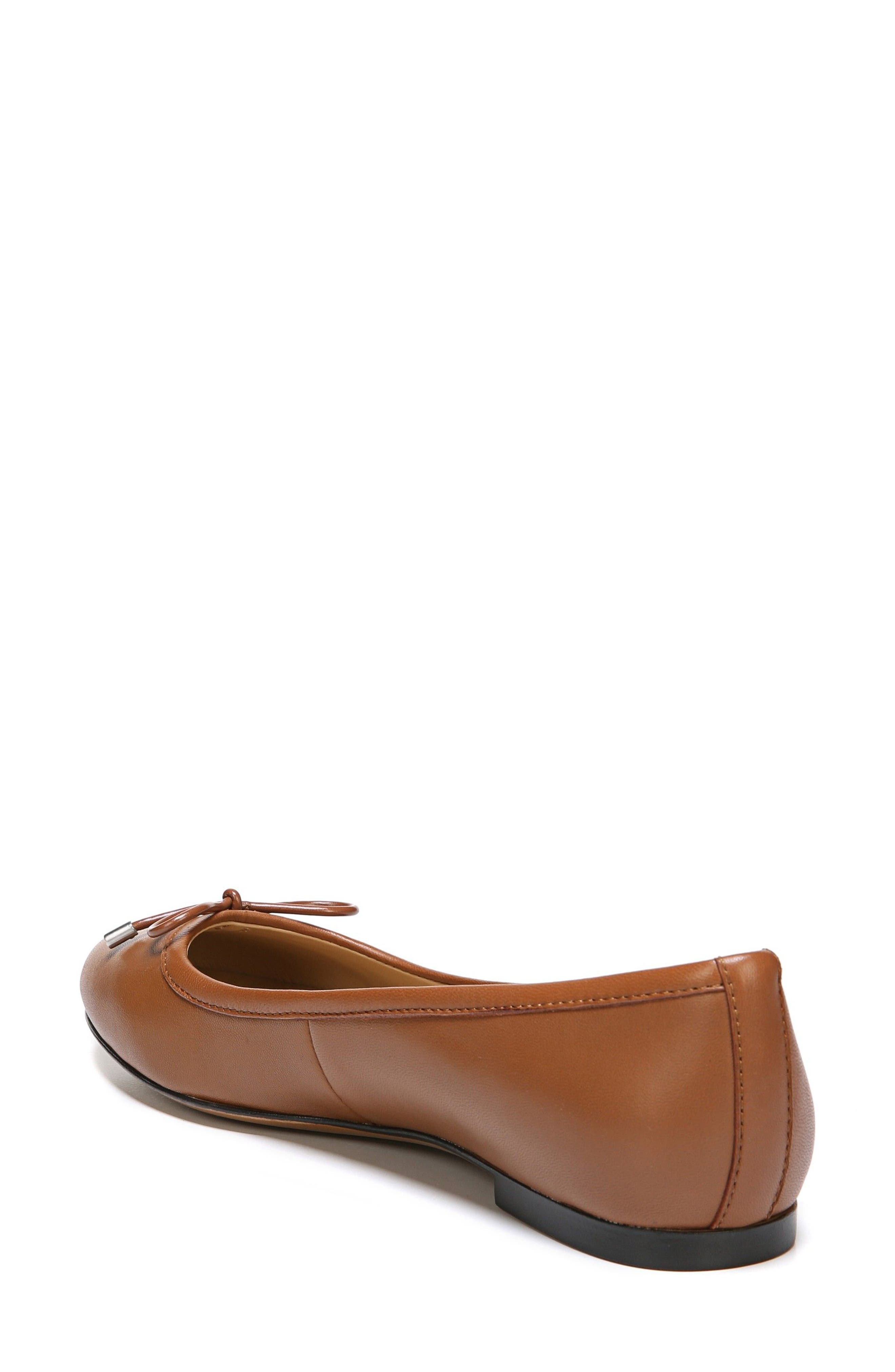 Grace Flat,                             Alternate thumbnail 2, color,                             Saddle Tan Leather