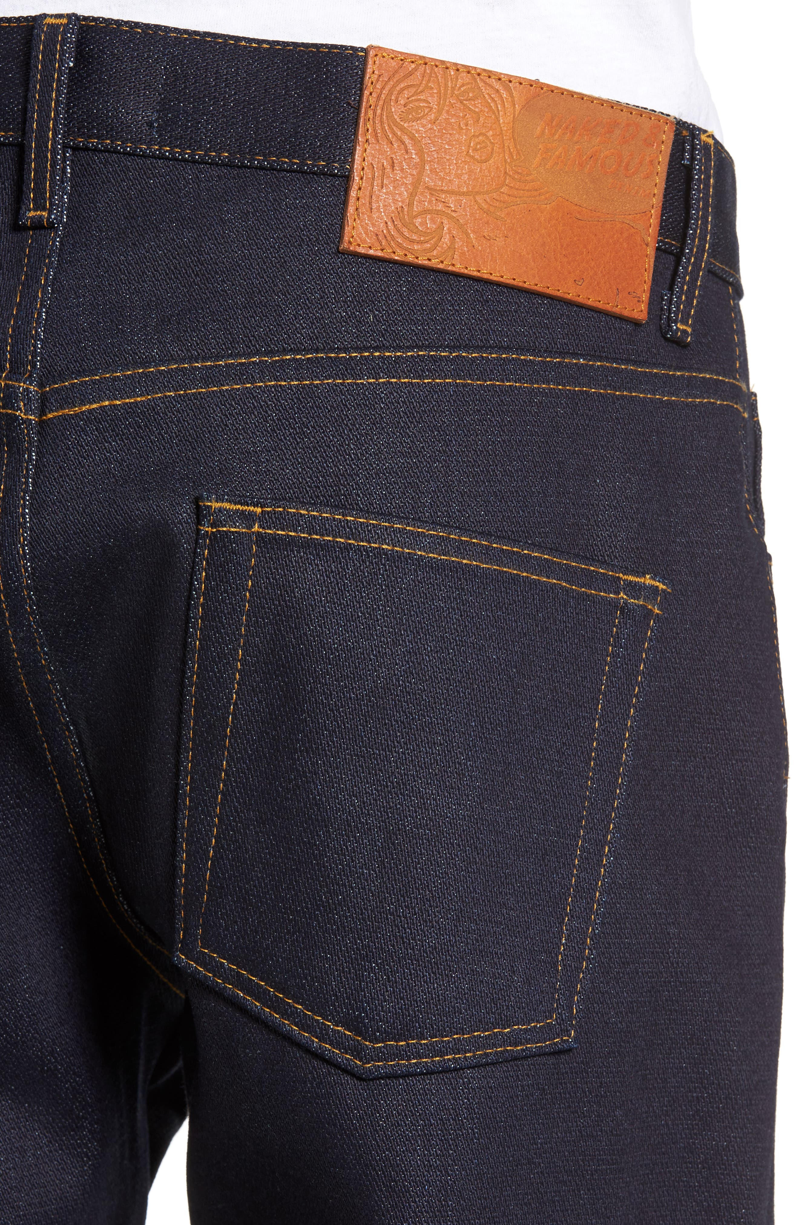 Alternate Image 4  - Naked & Famous Denim Easy Guy Slouchy Skinny Fit Jeans (Elephant 6)