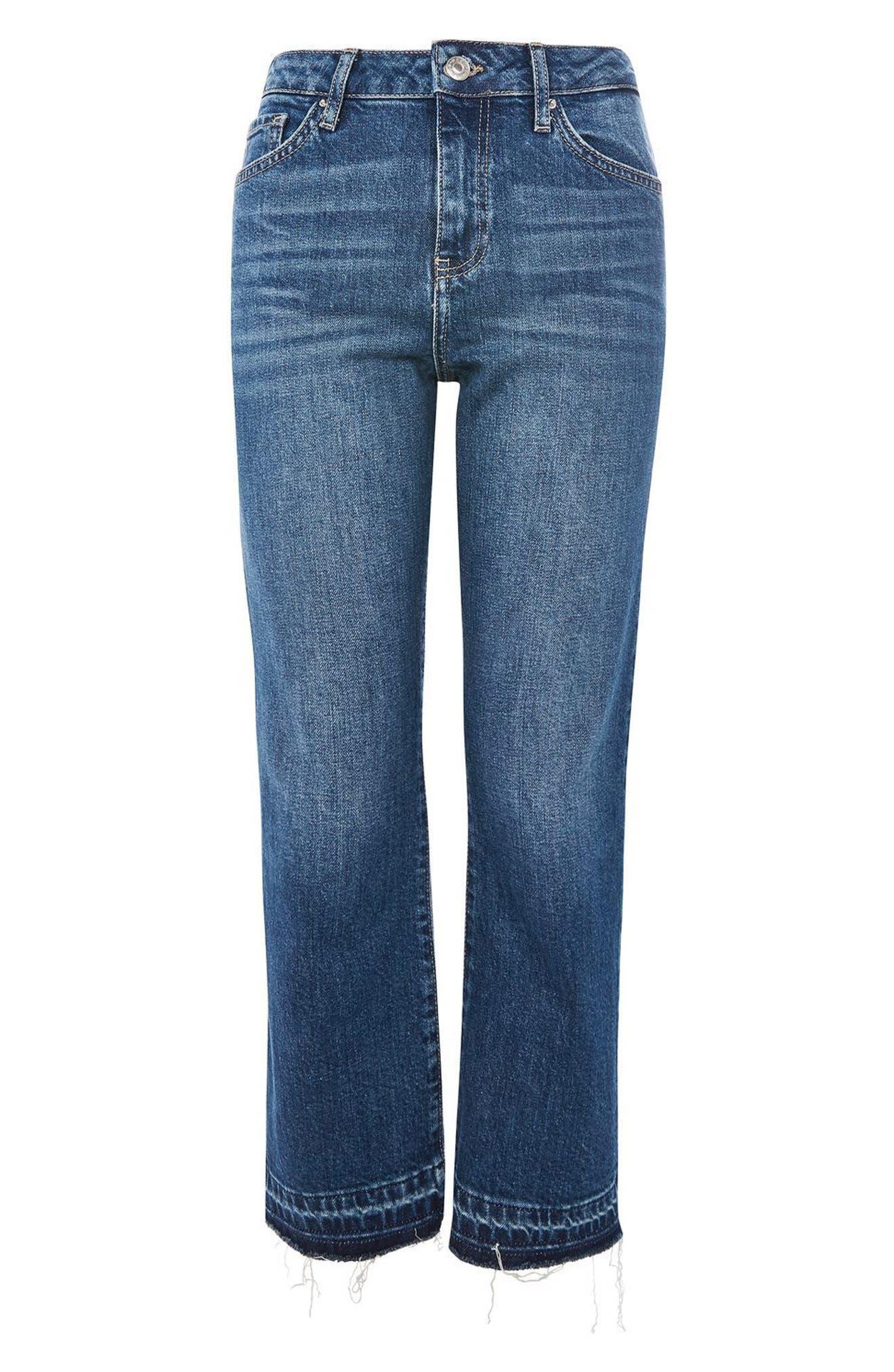 Alternate Image 4  - Topshop Dree Released Hem Flare Jeans
