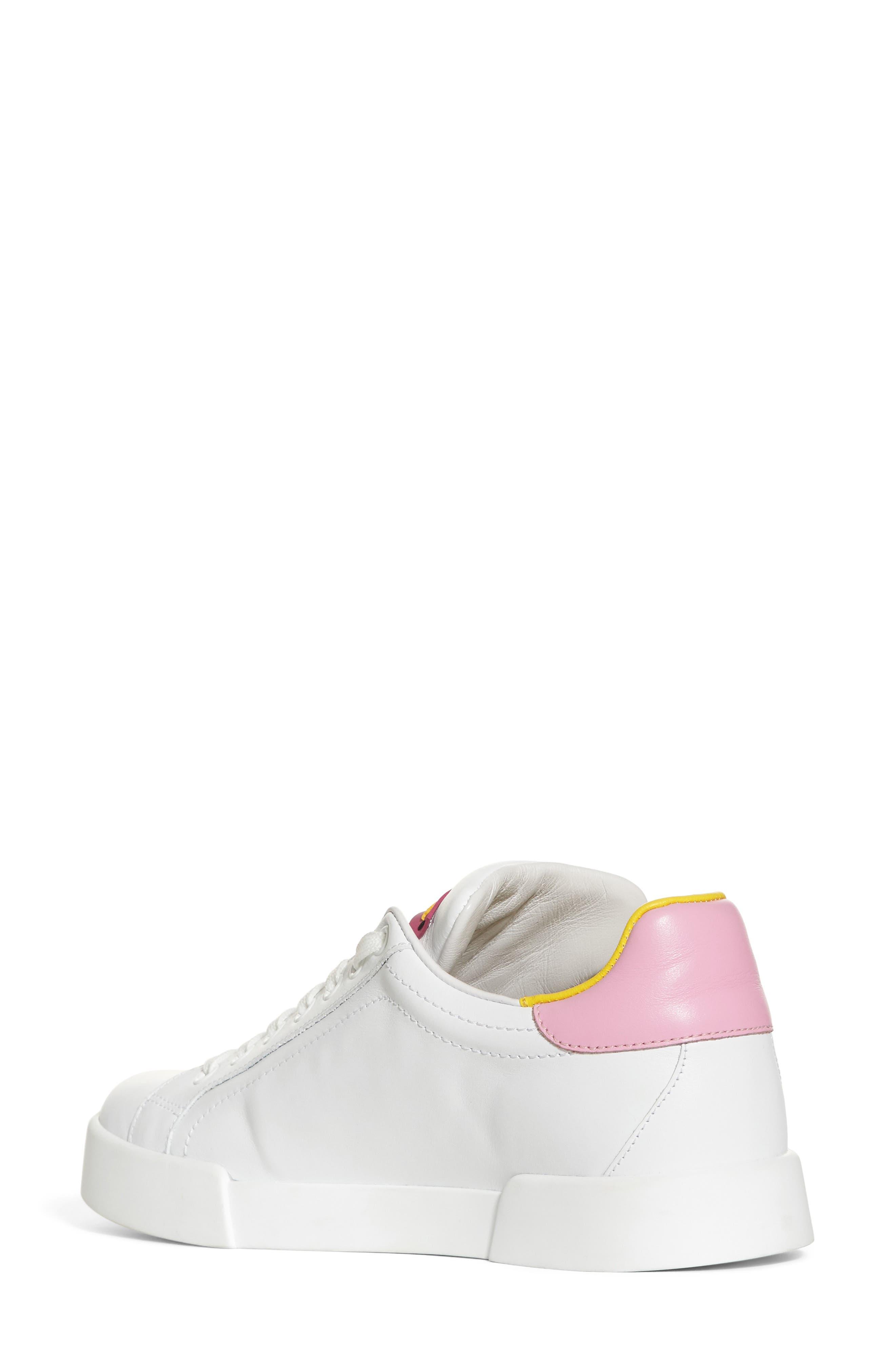 Lipstick Sneaker,                             Alternate thumbnail 2, color,                             White/ Pink