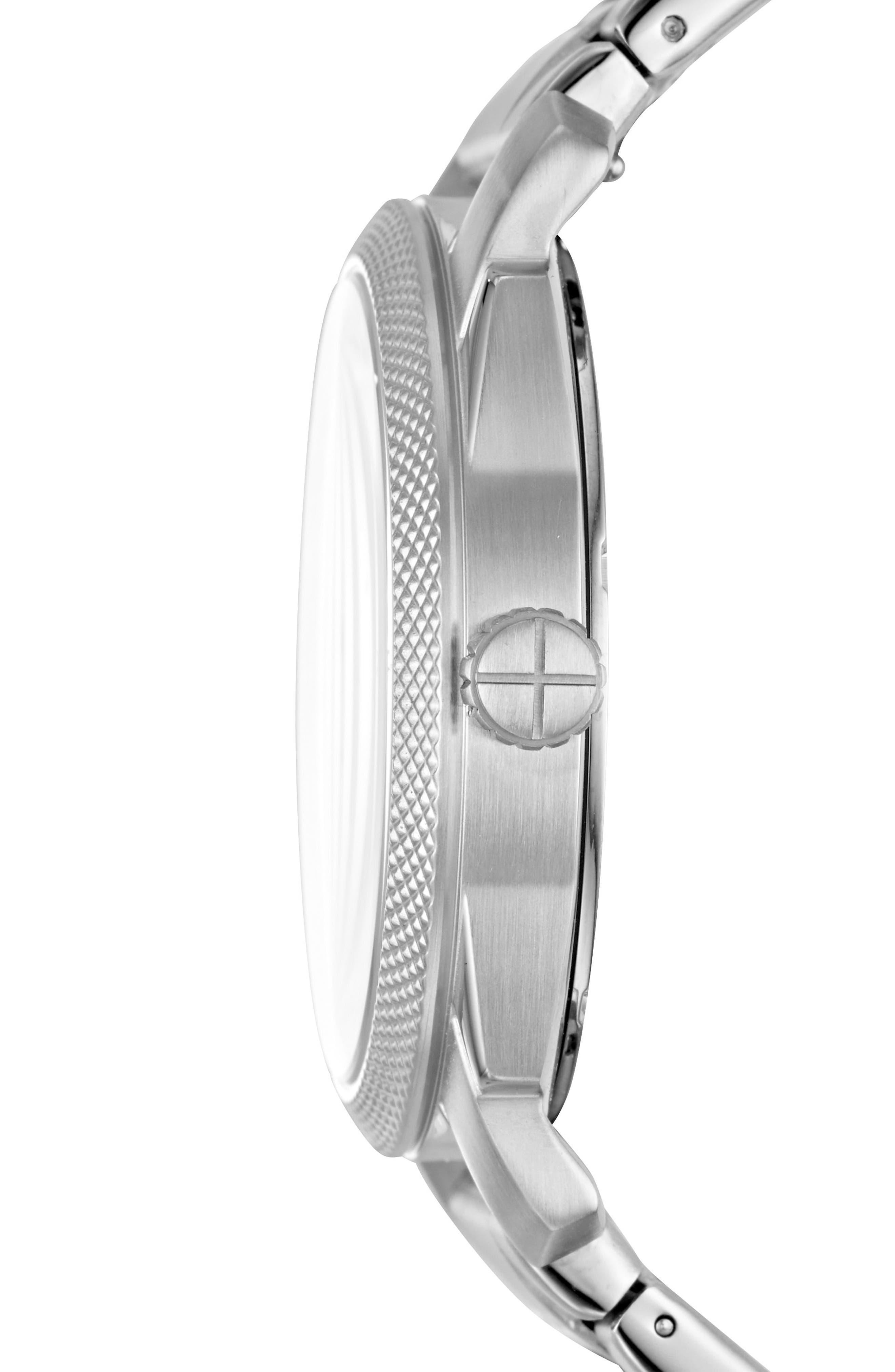 Machine Bracelet Watch, 42mm,                             Alternate thumbnail 2, color,                             Silver/ Blue/ Silver
