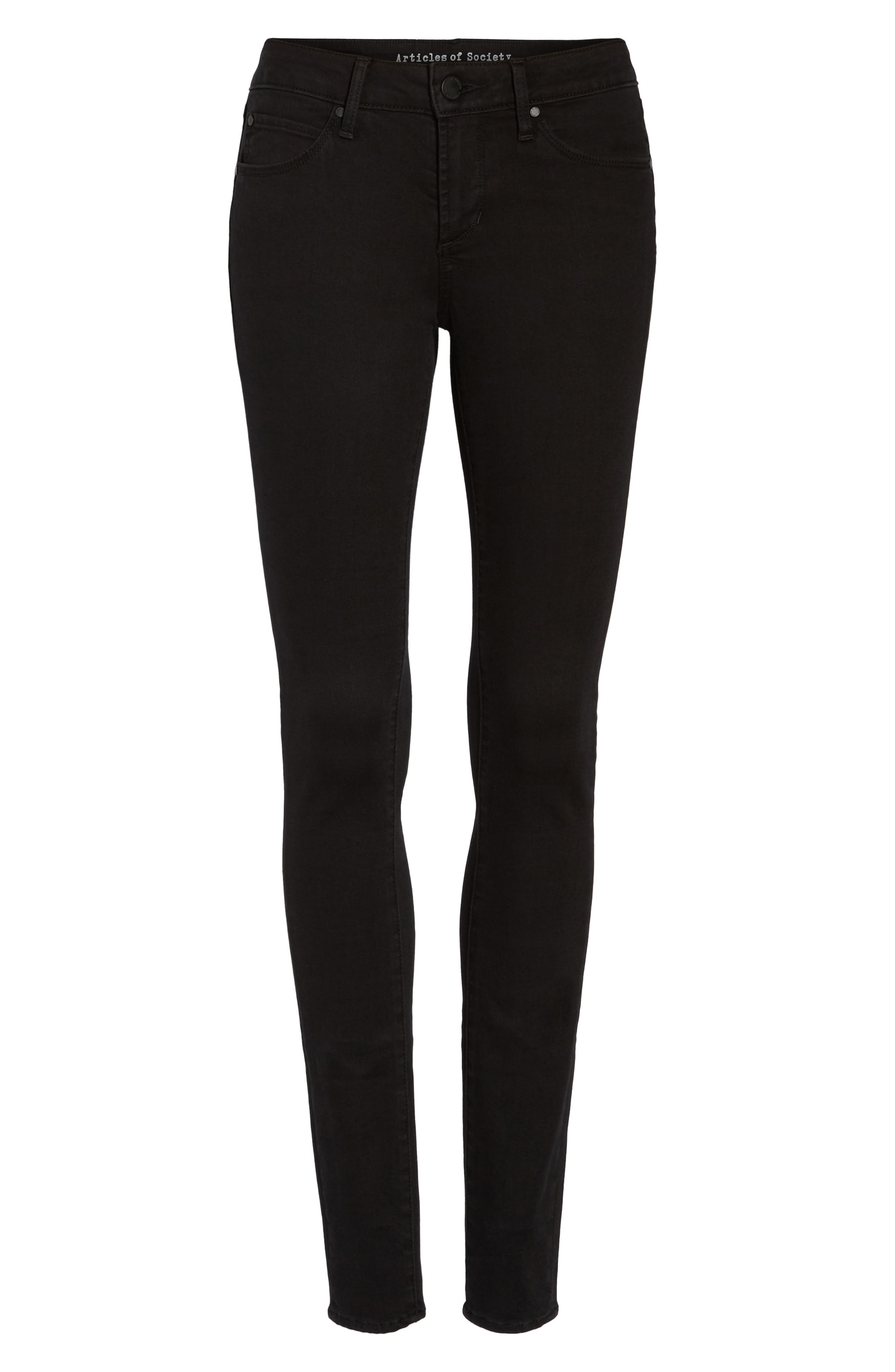 Mya Ankle Skinny Jeans,                             Alternate thumbnail 7, color,                             Blackhawk