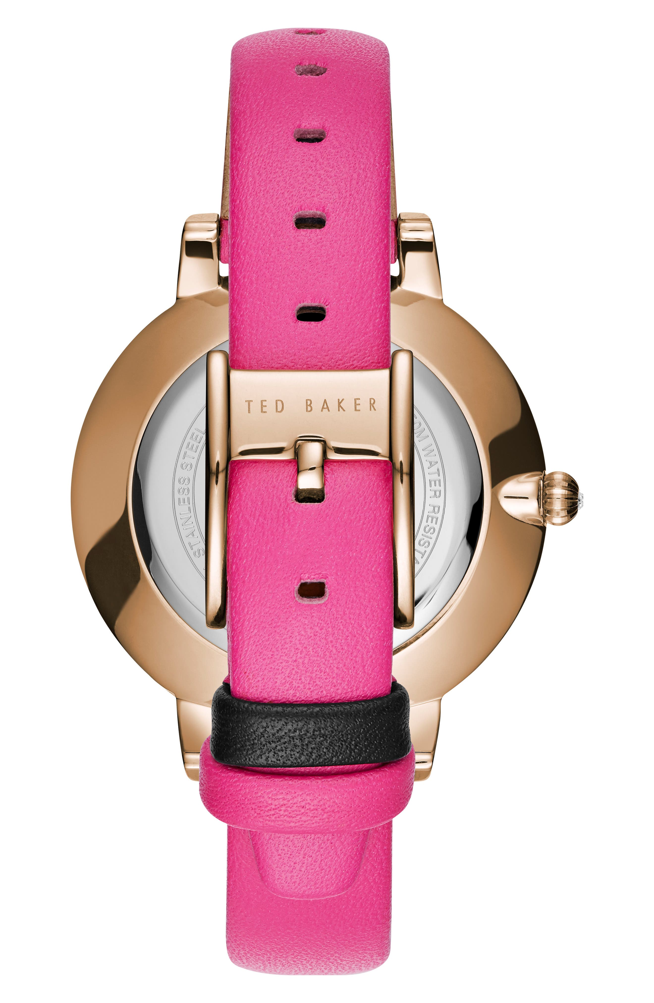 Kate Leather Strap Watch, 38mm,                             Alternate thumbnail 2, color,                             Red/ Floral/ Rose Gold