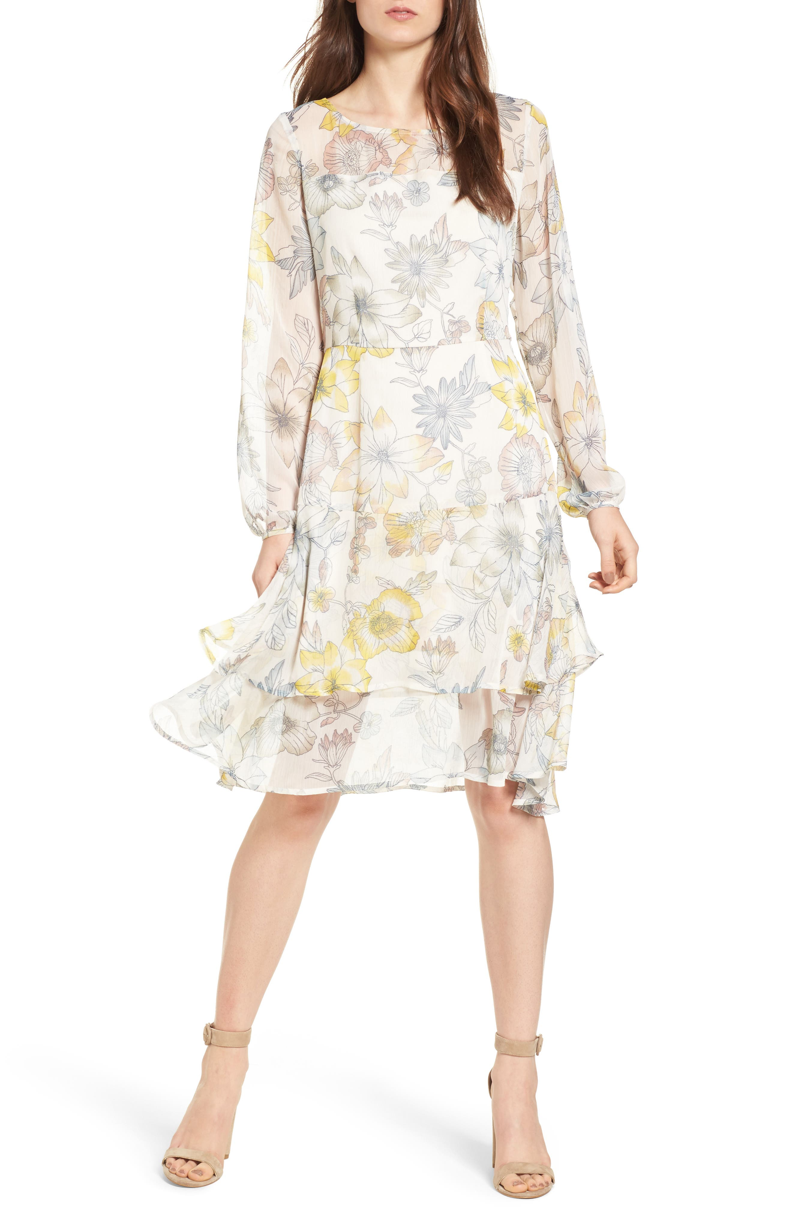 cupcakes and cashmere Rome Floral Dress