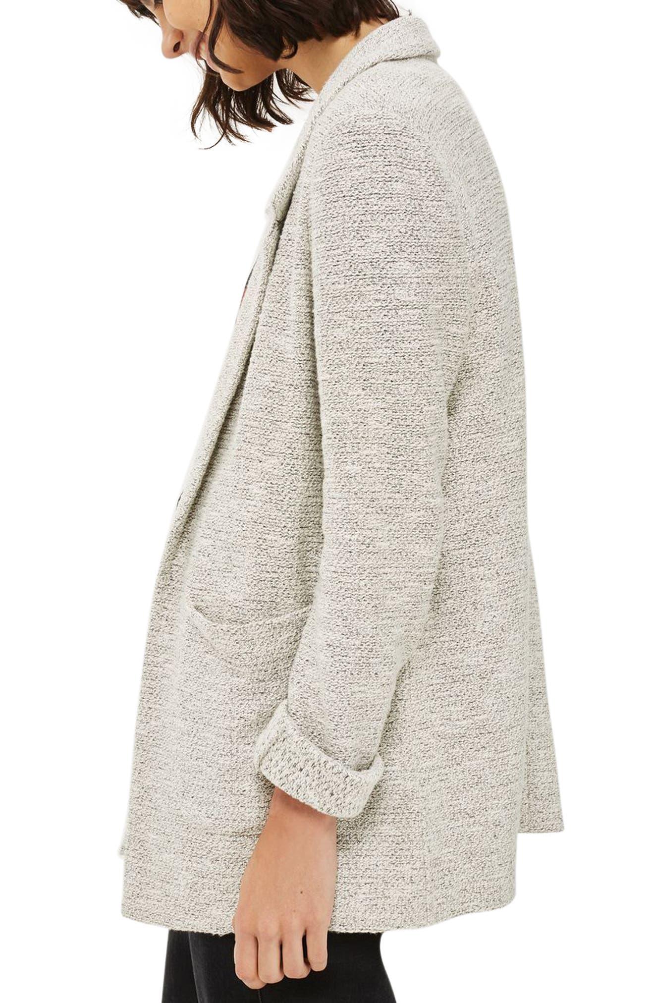 Alternate Image 3  - Topshop Textured Jersey Blazer
