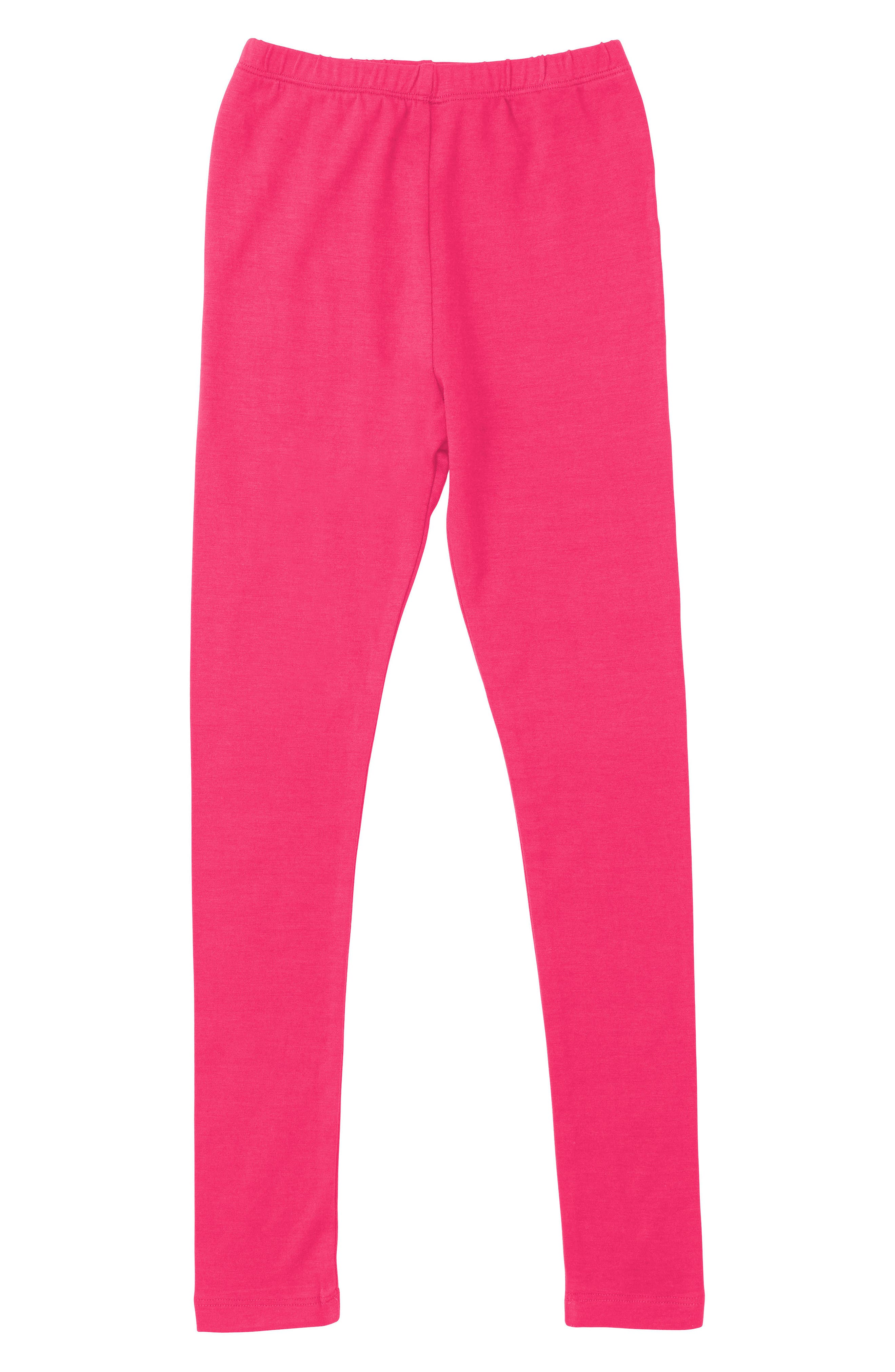 Stretch Cotton Leggings,                         Main,                         color, Pink