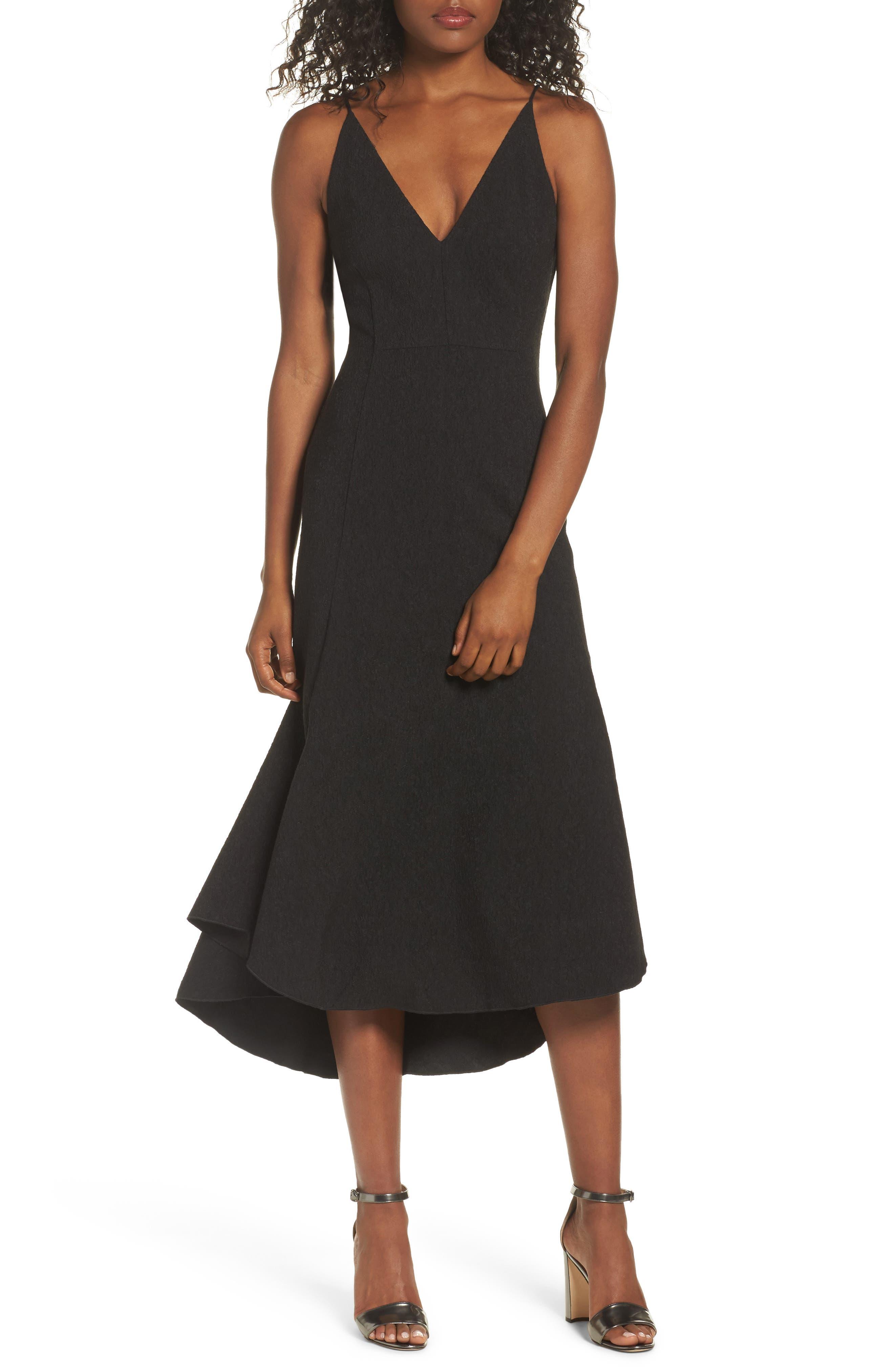 I Dream It Fit & Flare Dress,                             Main thumbnail 1, color,                             Black