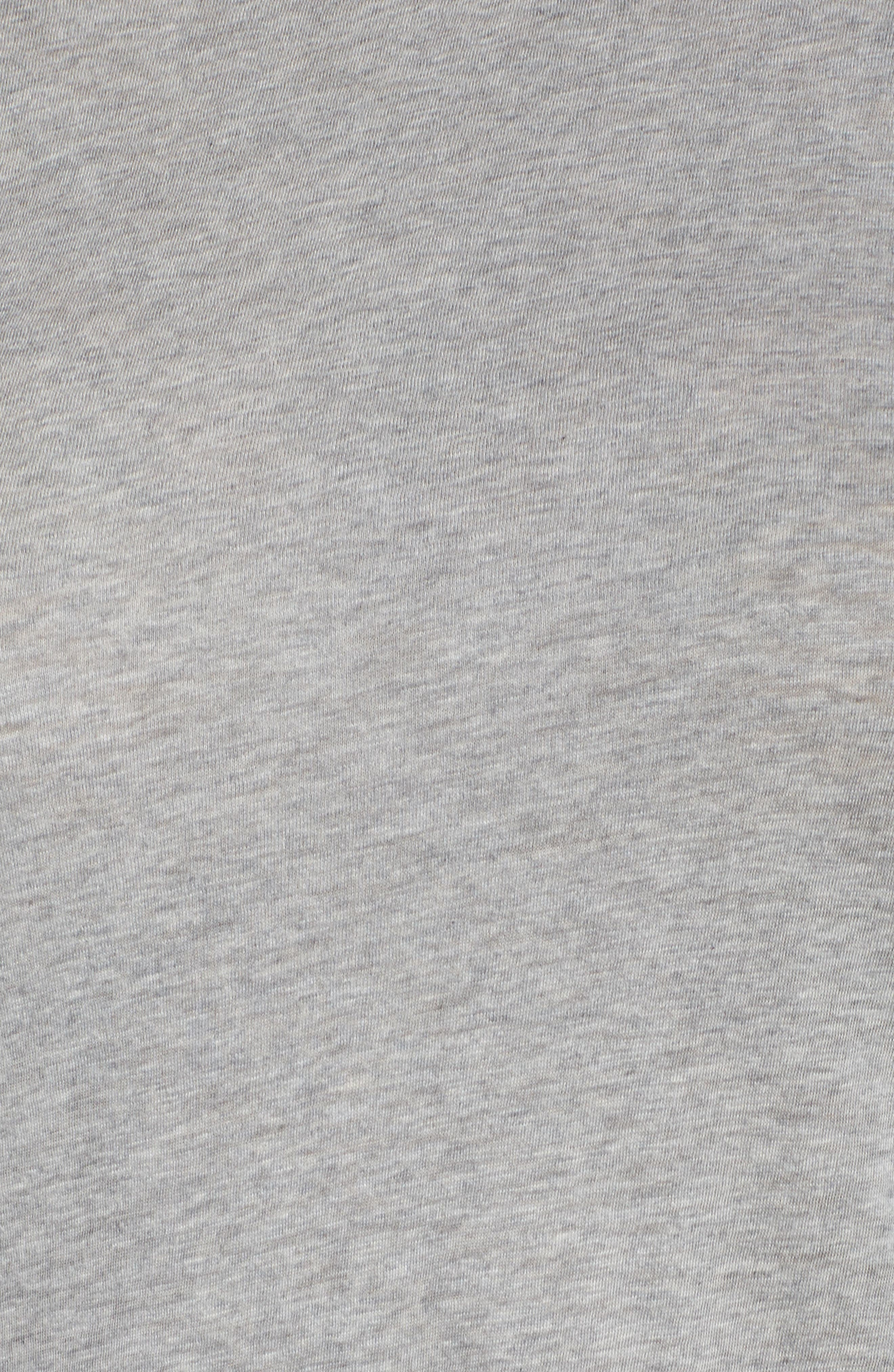 Long Sleeve Crewneck Tee,                             Alternate thumbnail 6, color,                             Grey Heather