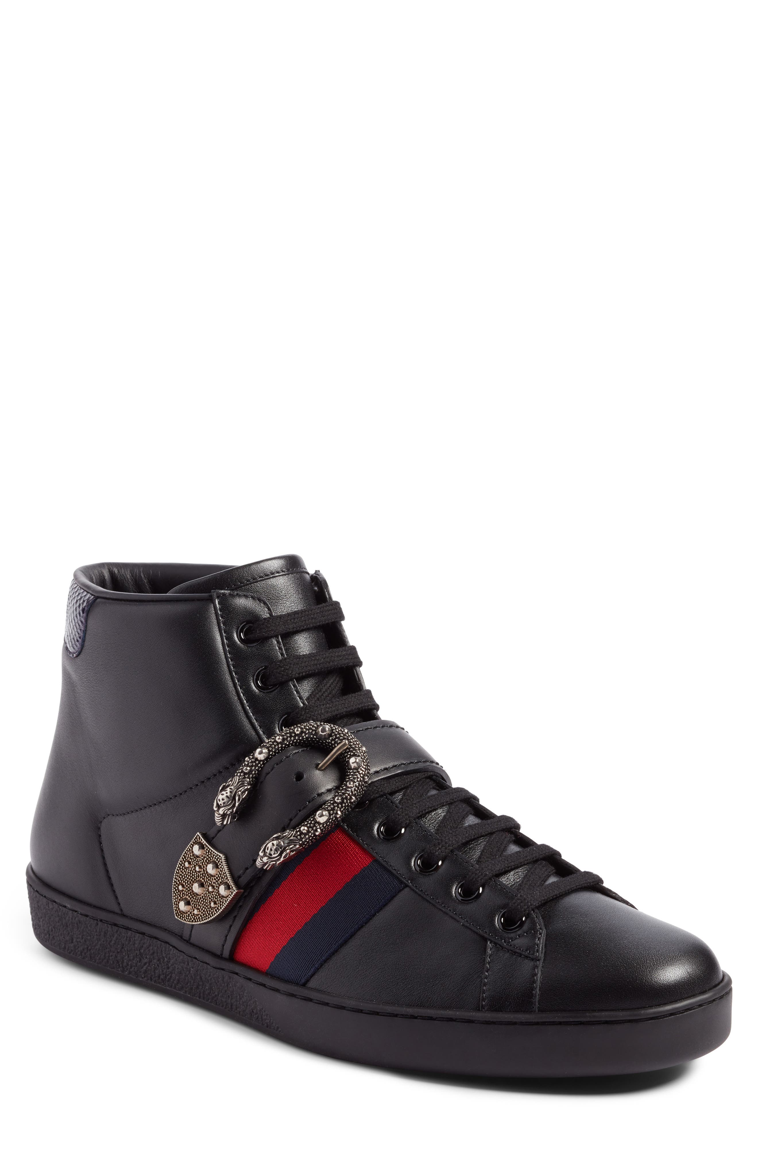 Gucci New Ace Dionysus Buckle High Top Sneaker (Men)
