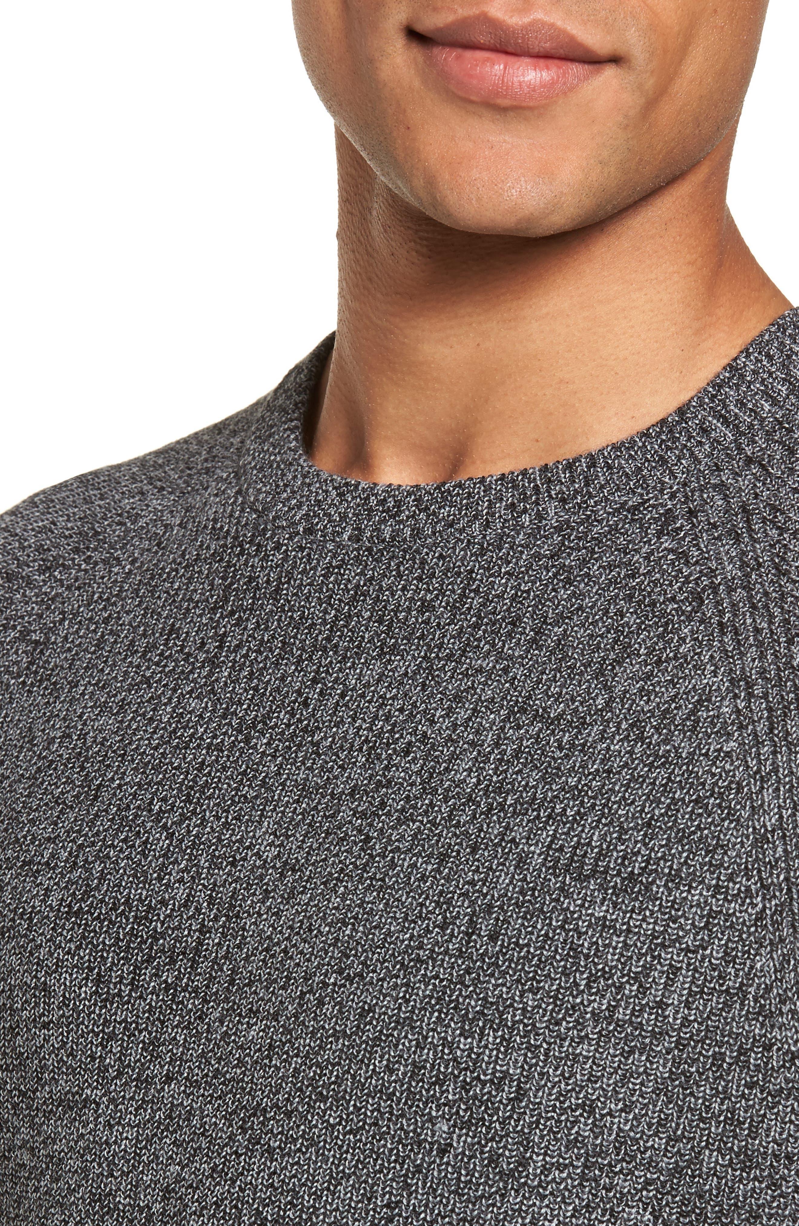 Alternate Image 4  - Nordstrom Men's Shop Textured Merino Wool Blend Sweater