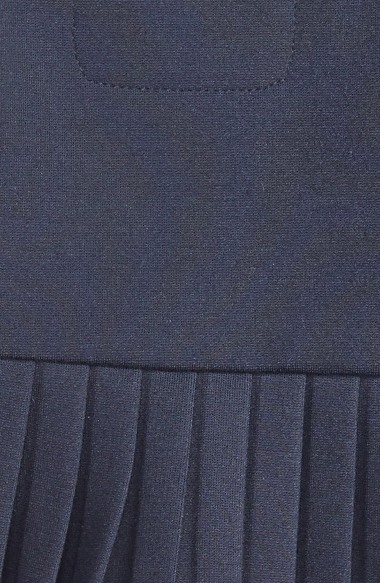 Sleeveless Jersey Dress,                             Alternate thumbnail 3, color,                             Navy Blue