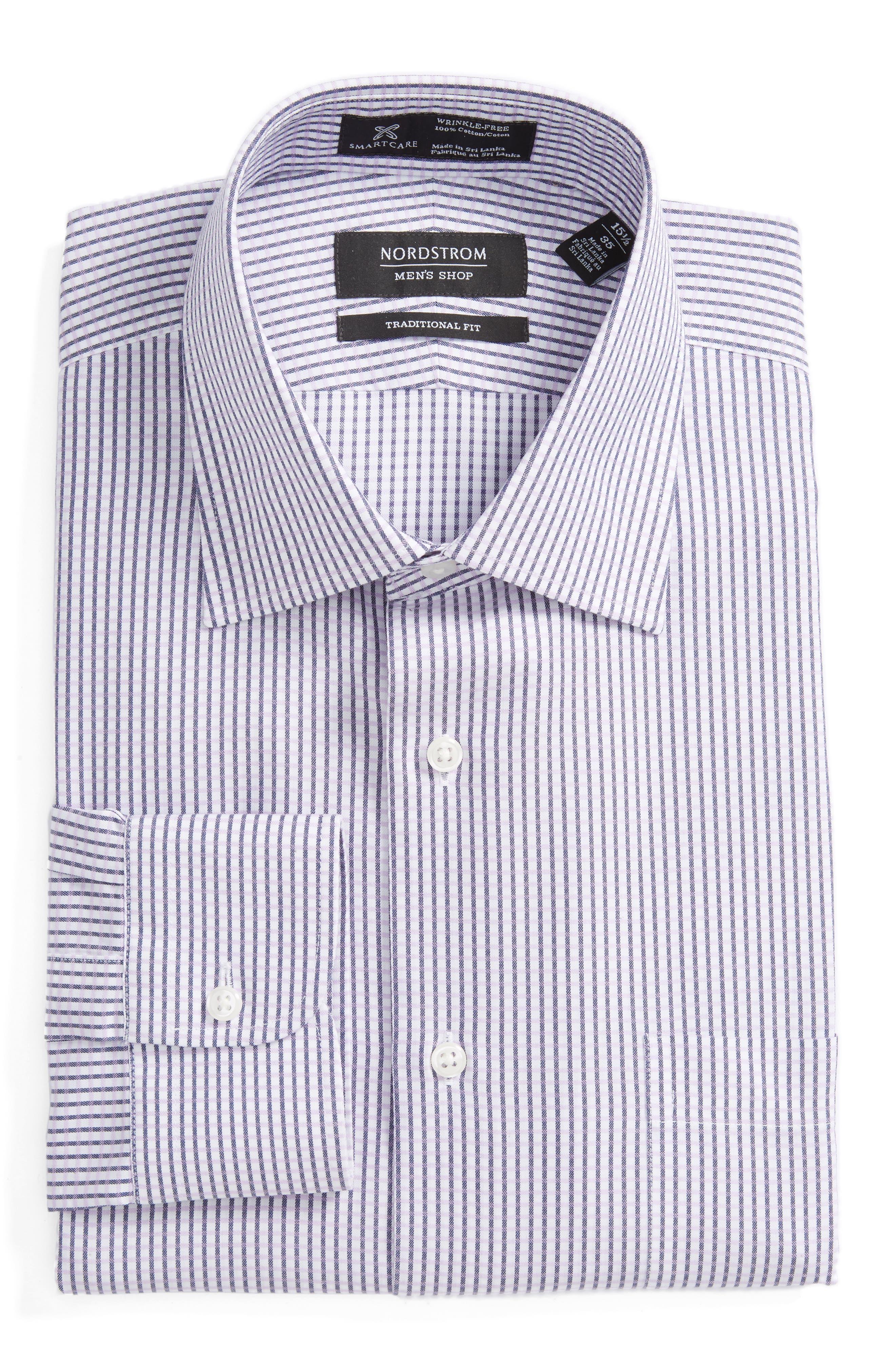 Main Image - Nordstrom Men's Shop Smartcare™ Traditional Fit Check Dress Shirt
