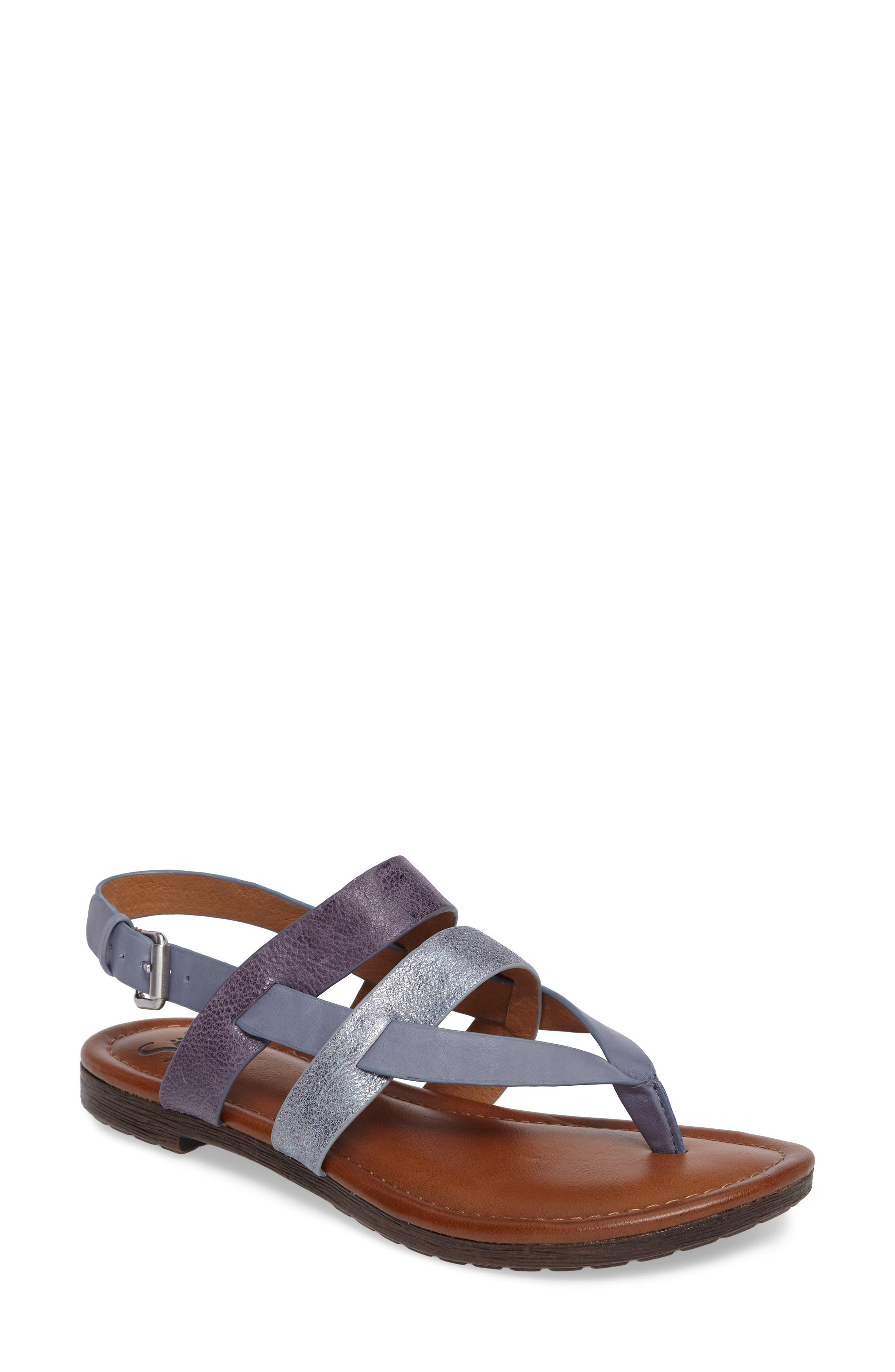Bena Strappy Sandal,                             Main thumbnail 1, color,                             Denim/ Blue/ Pale Blue Leather