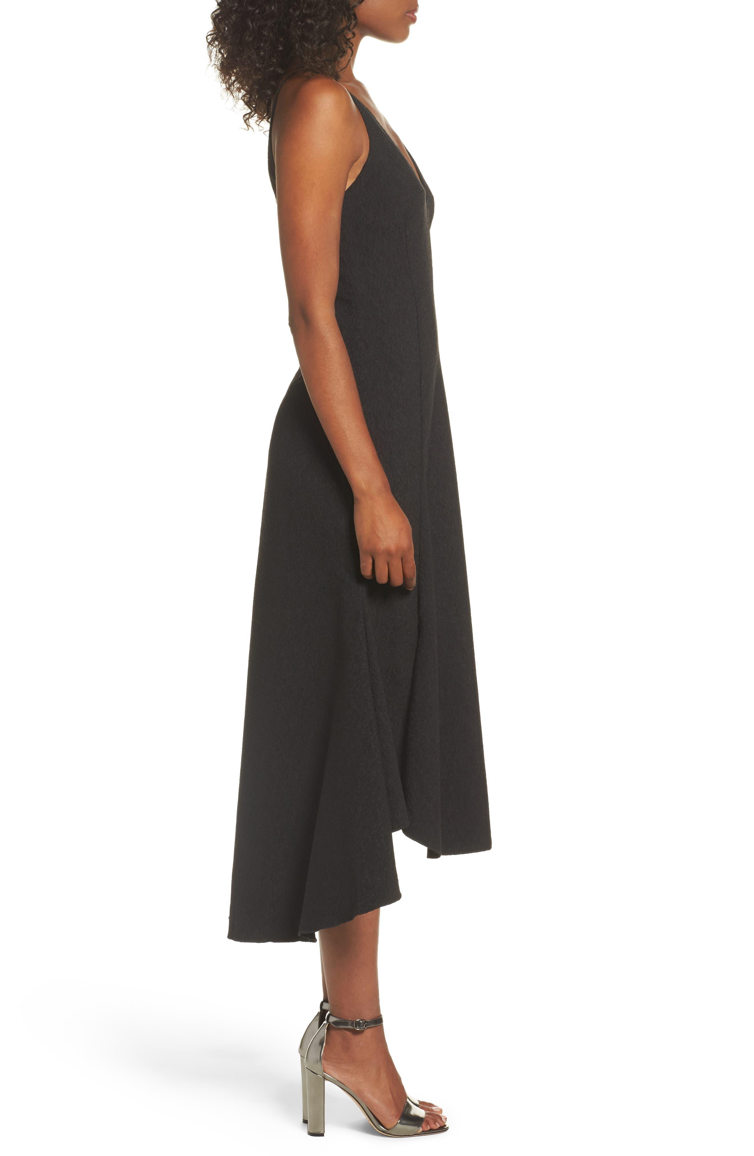 I Dream It Fit & Flare Dress,                             Alternate thumbnail 3, color,                             Black