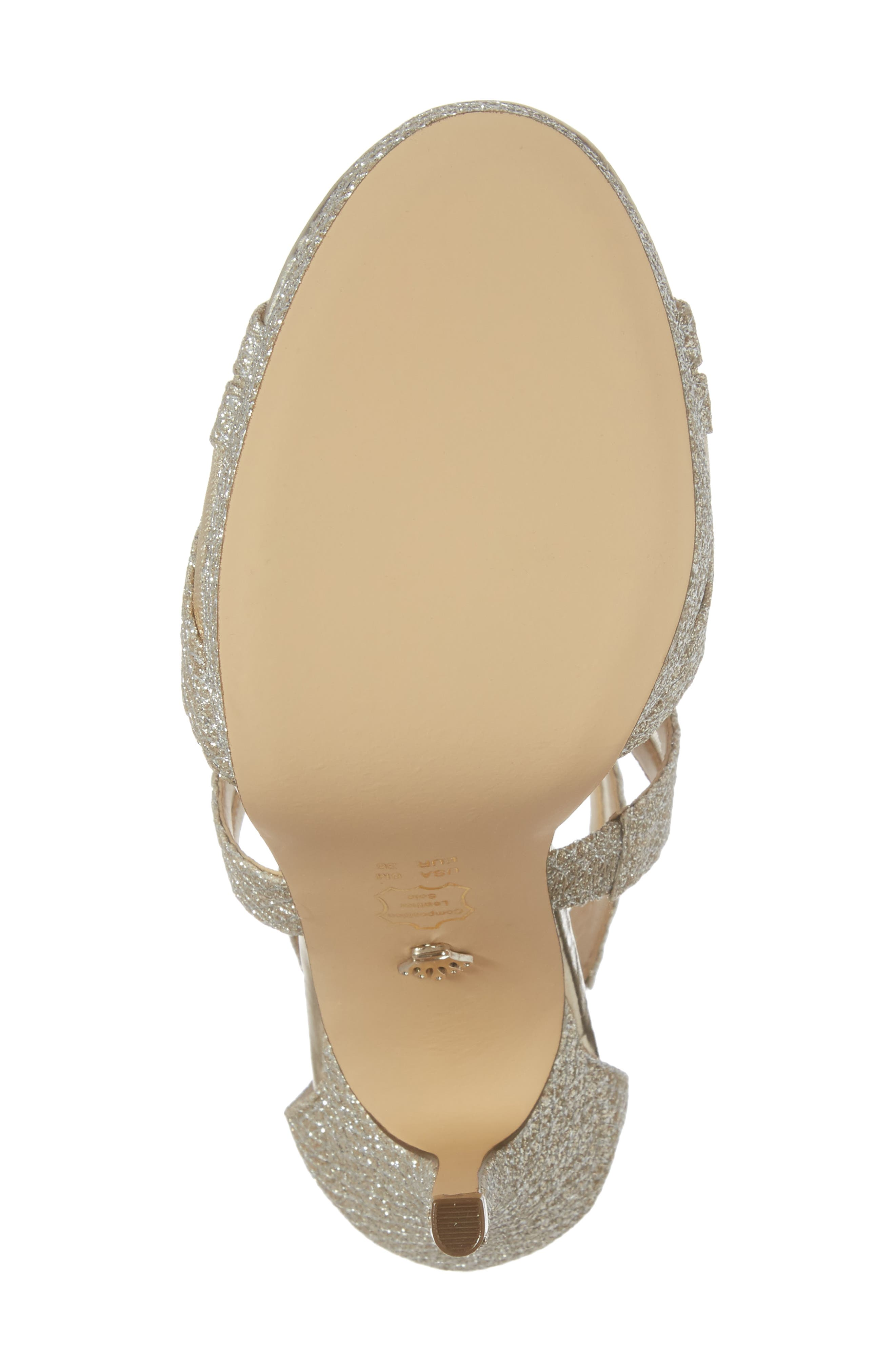 Fayette Strappy Sandal,                             Alternate thumbnail 6, color,                             Metallic Gold