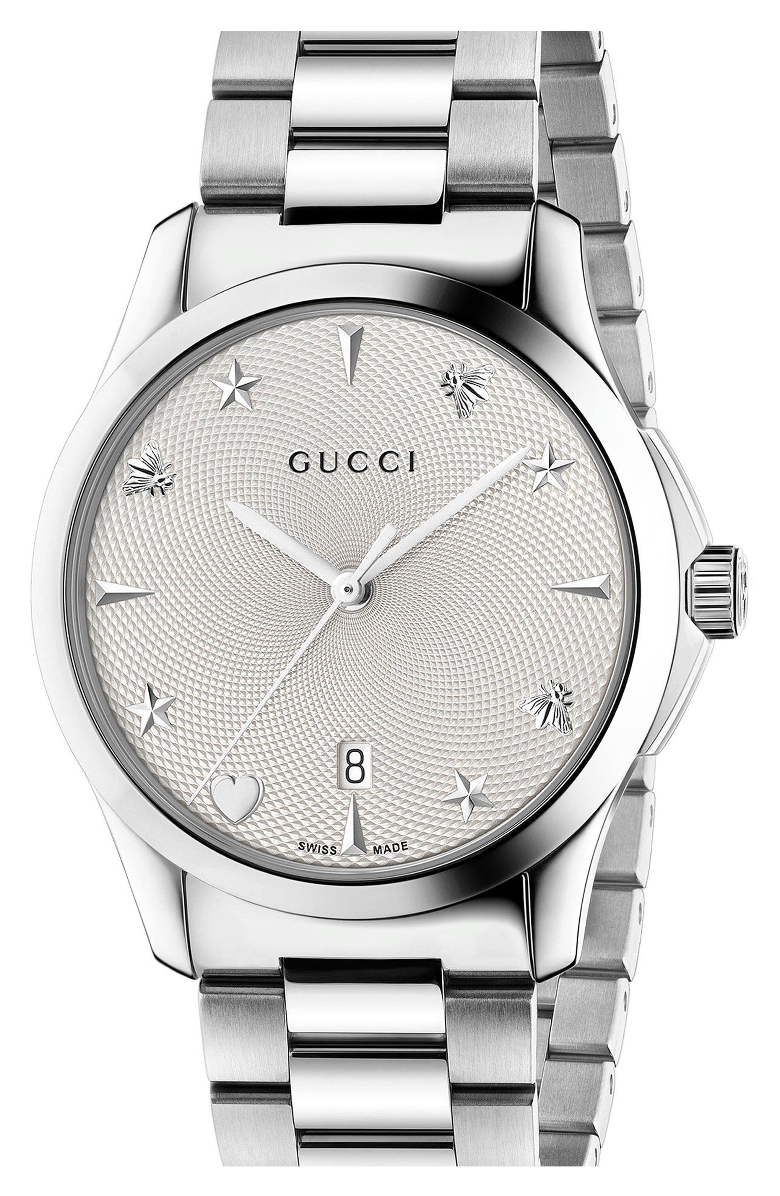 Gucci G-Timeless Bracelet Watch, 38mm