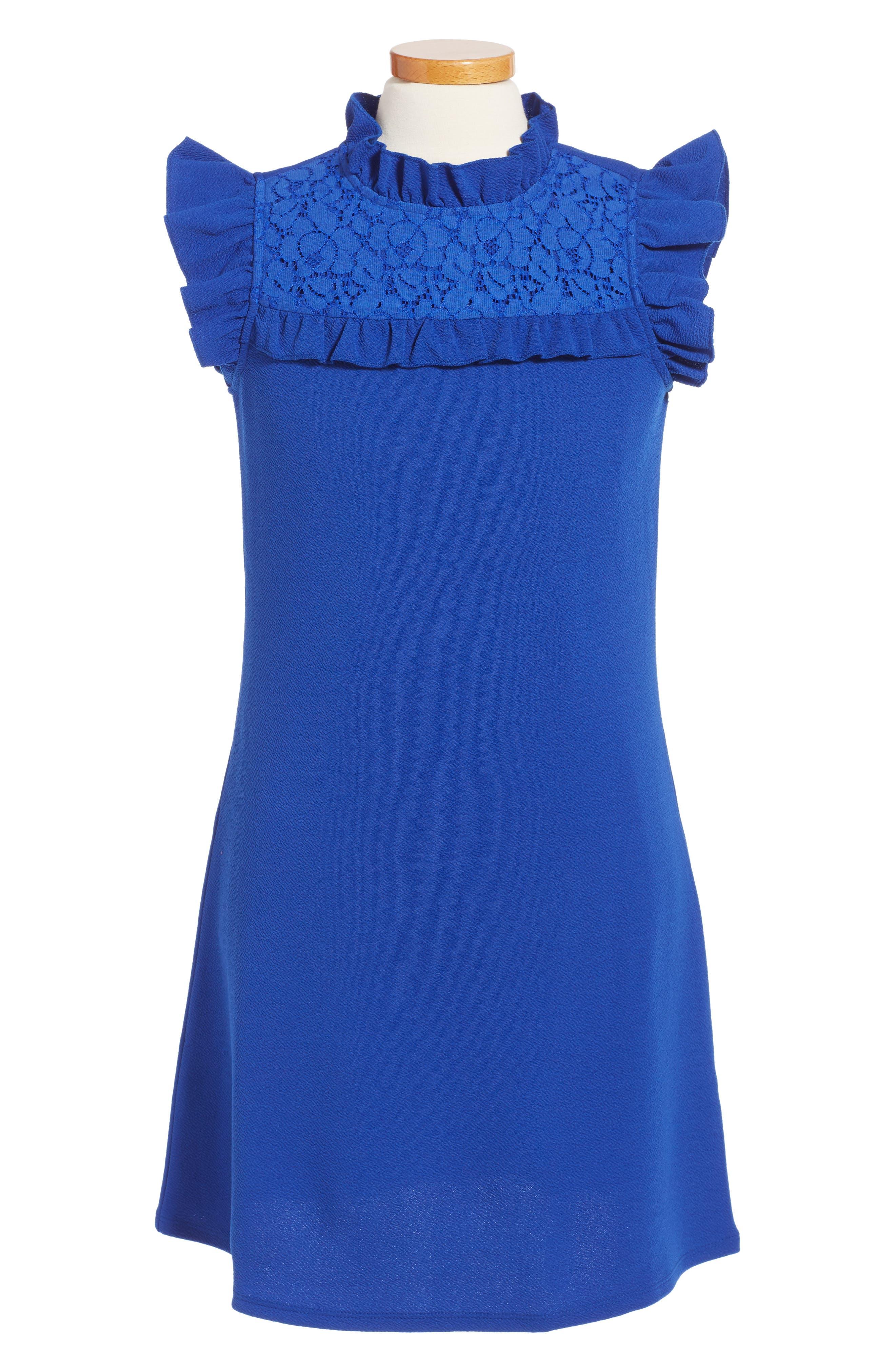 Love, Nickie Lew Flutter Sleeve Dress (Big Girls)