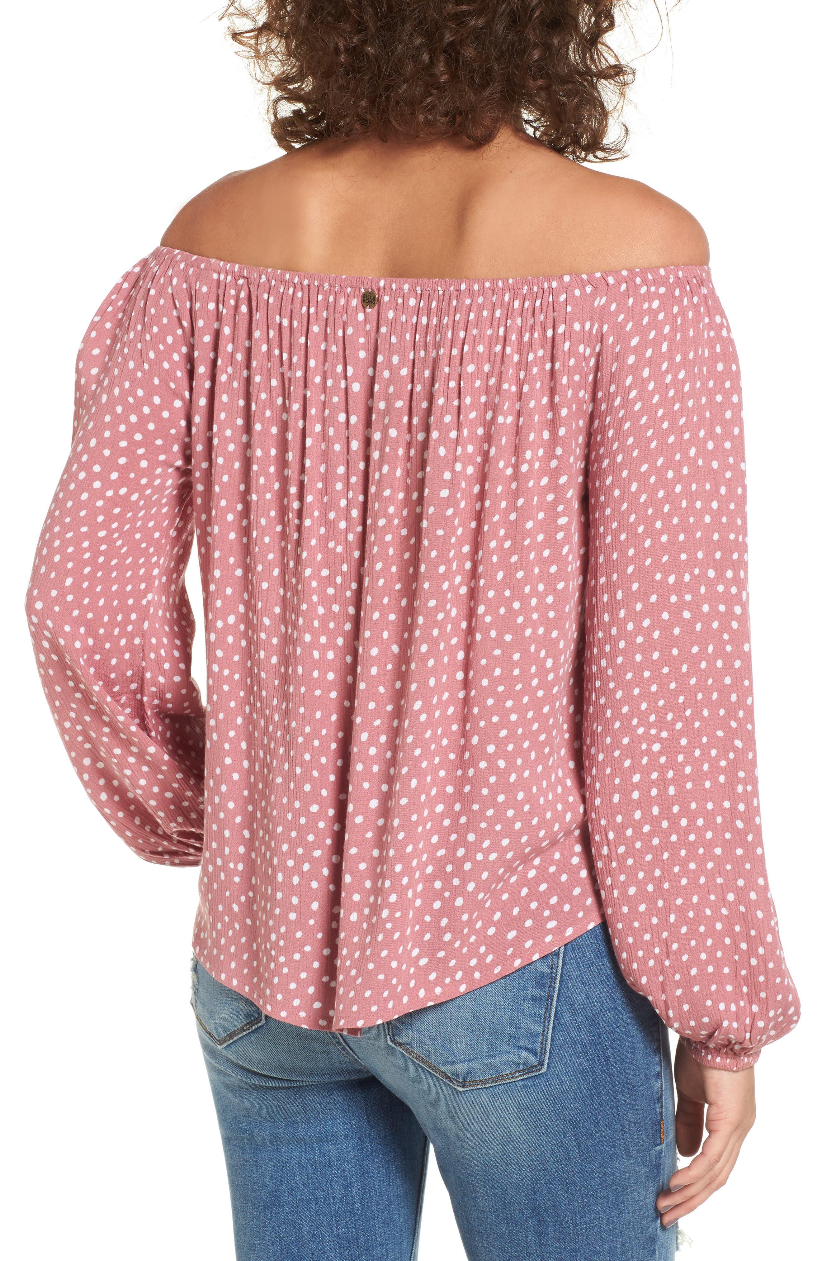 Alternate Image 2  - Billabong Mi Amore Off the Shoulder Blouse