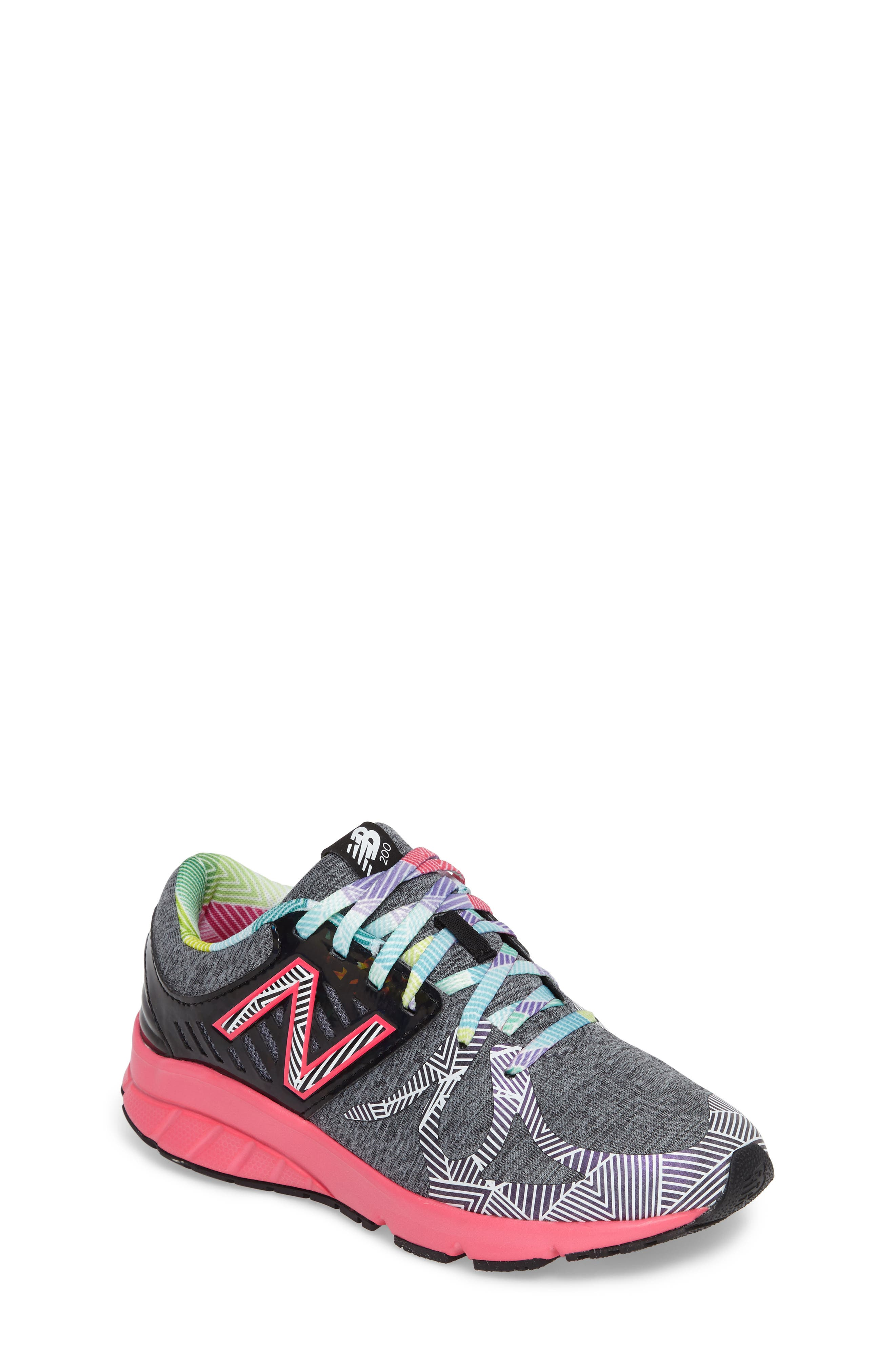 New Balance 200 Electric Rainbow Athletic Shoe (Big Kid)