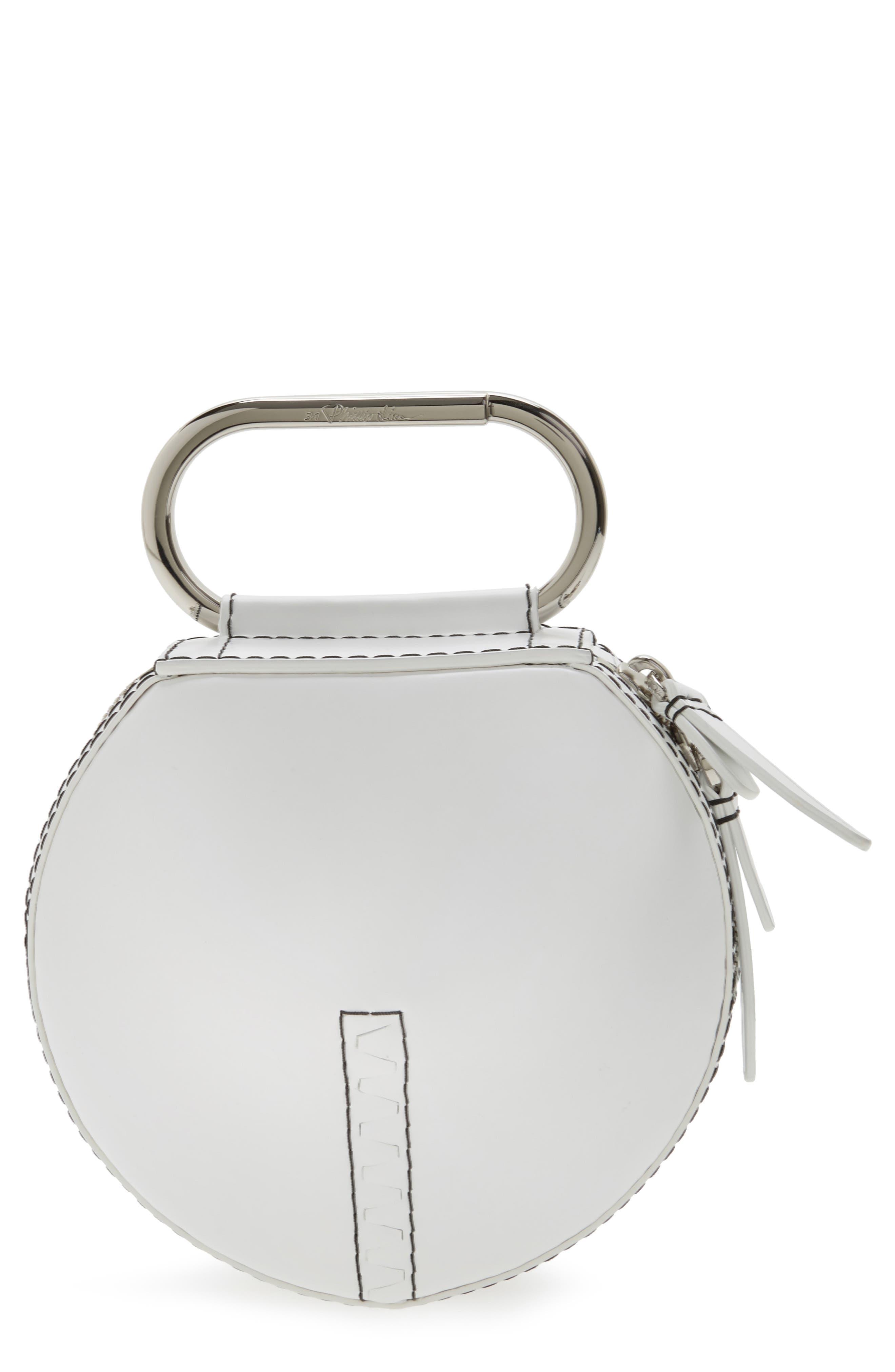 3.1 PHILLIP LIM Alix Leather Circle Clutch
