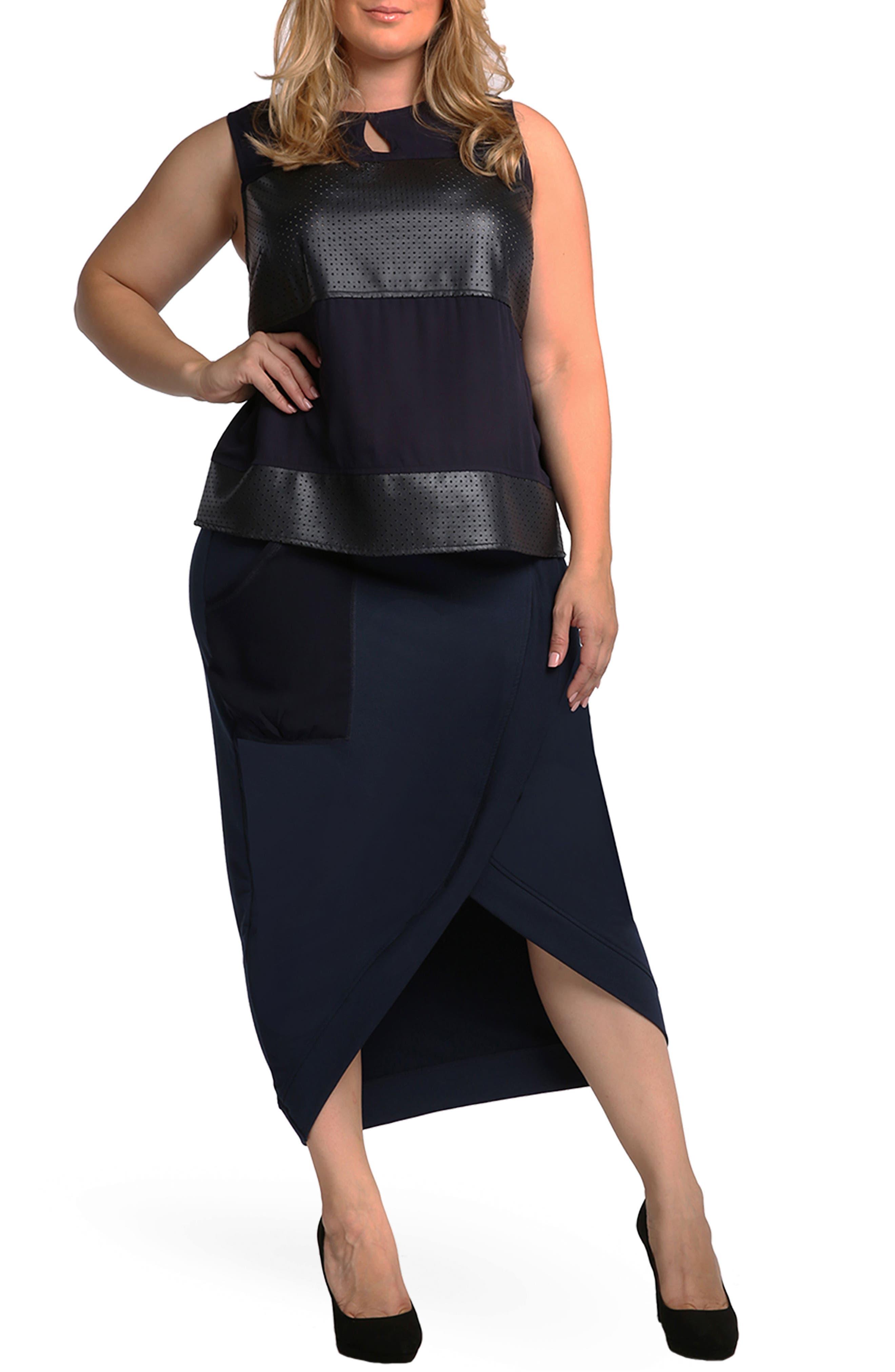 Phoebe Skirt,                             Alternate thumbnail 2, color,                             Midnight Blue