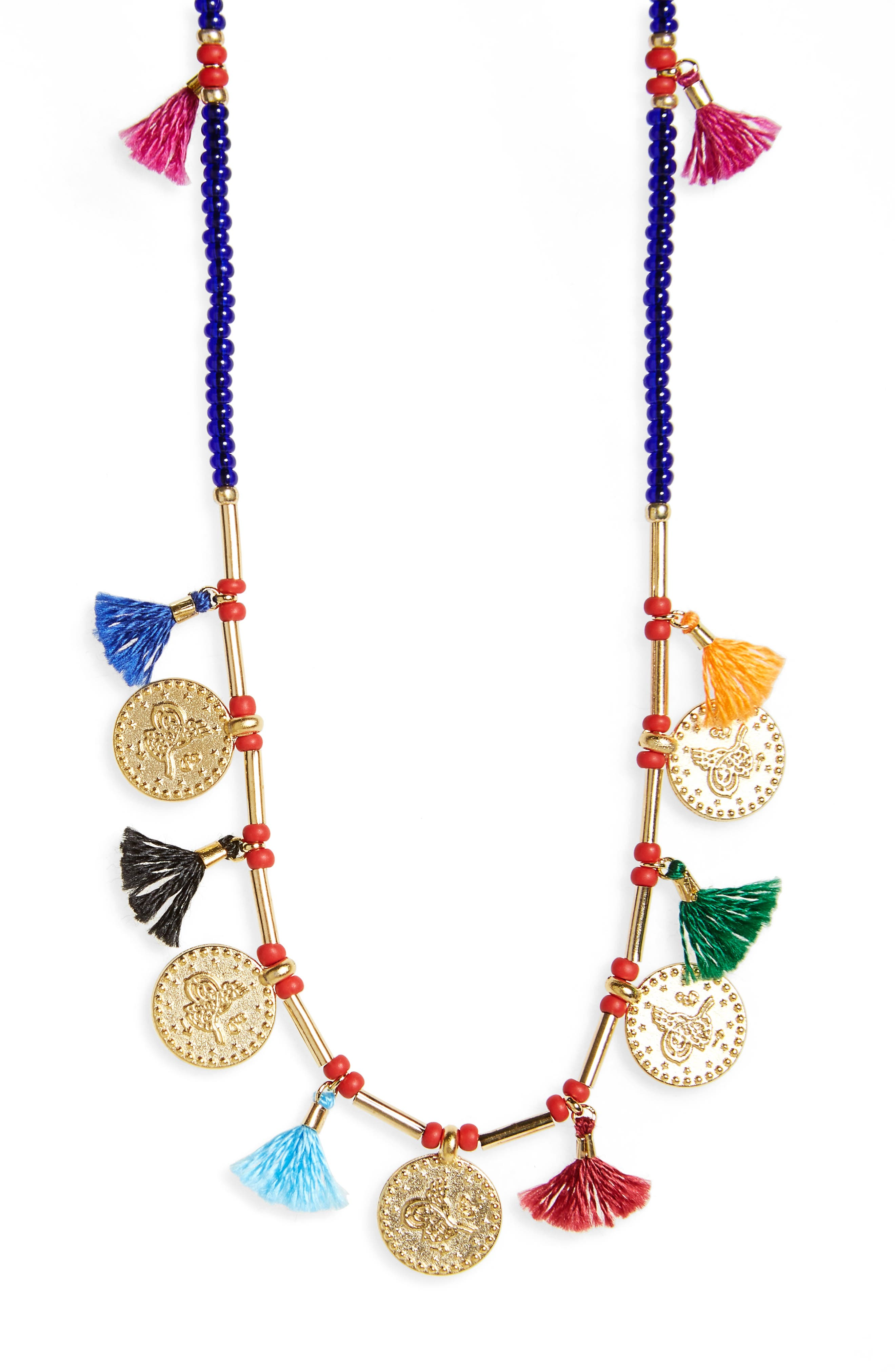 Hazel Multistrand Necklace,                         Main,                         color, Yellow Gold/ Multi