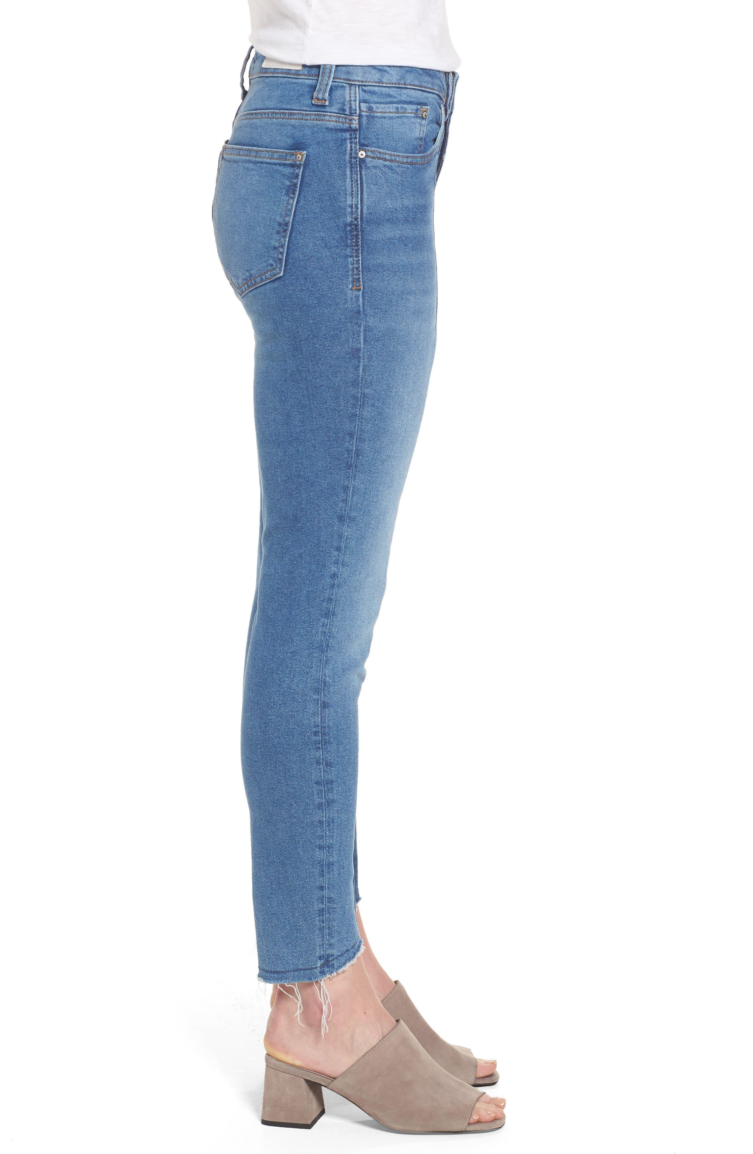 Alternate Image 3  - Mavi Jeans Tess Blocked Super Skinny Jeans (Mid Gold Icon)