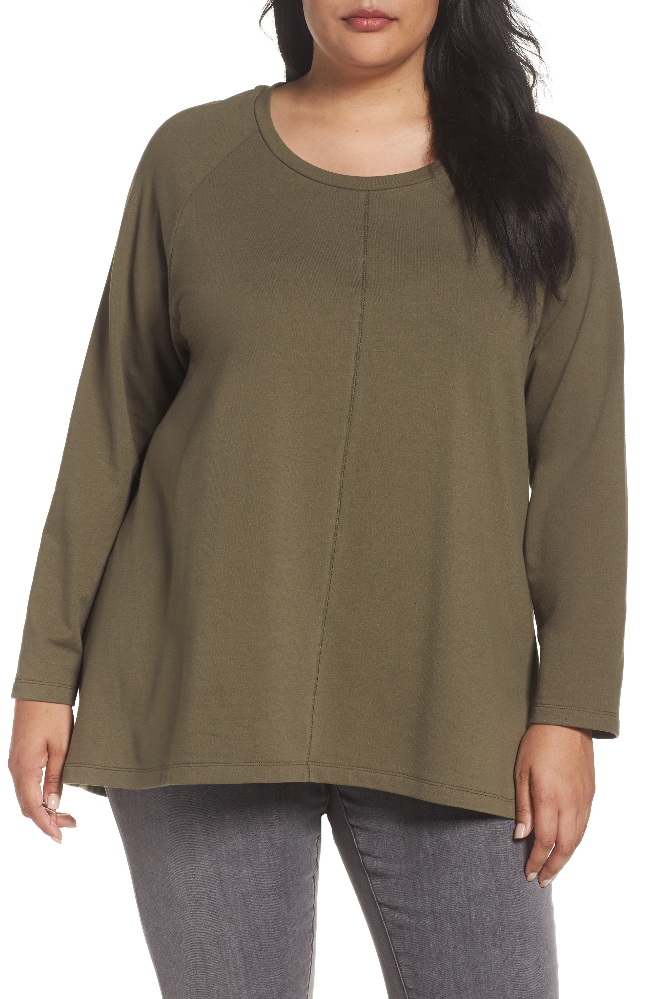 Caslon® High/Low Sweatshirt (Plus Size)