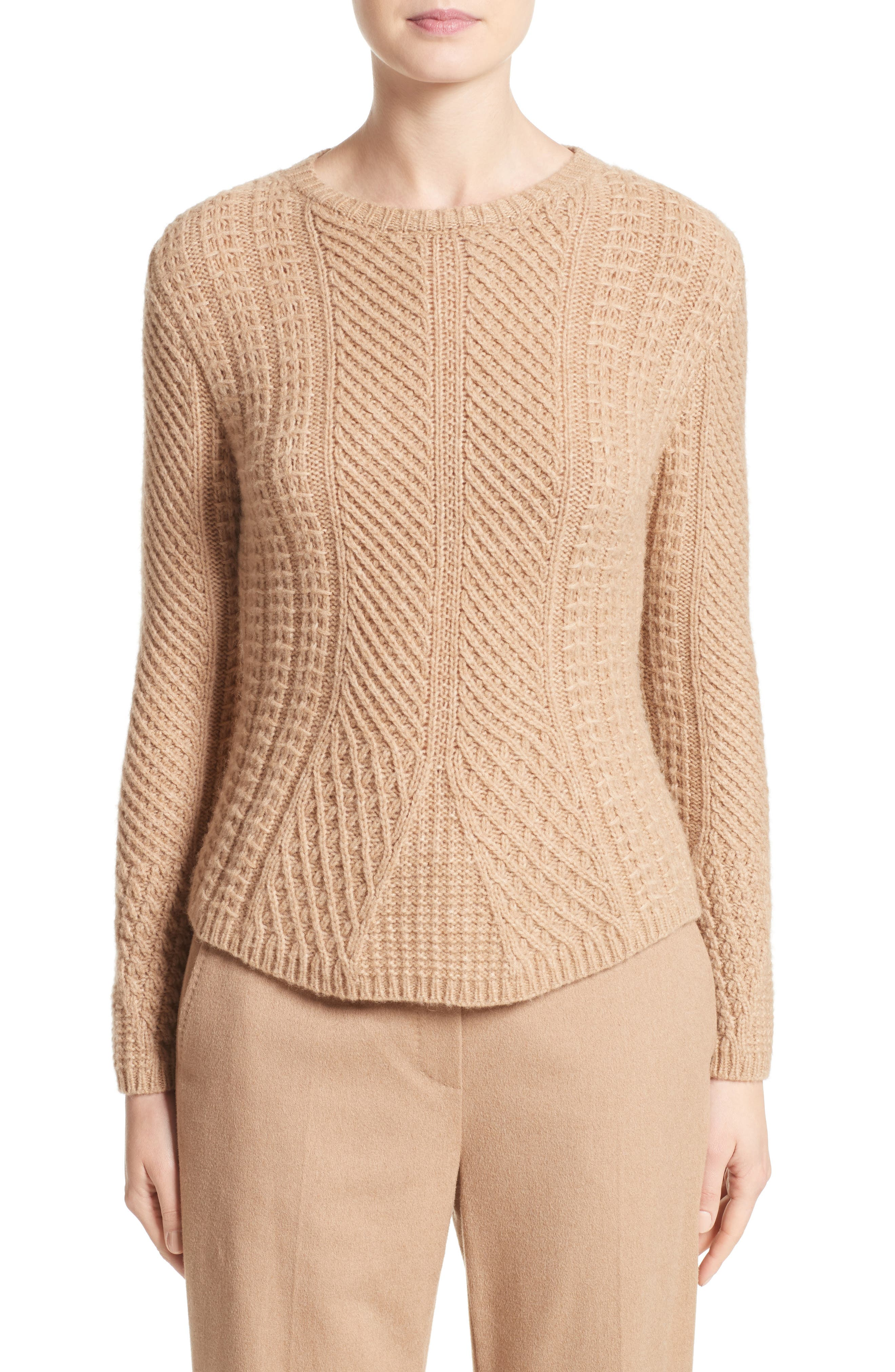 Ronco Sweater,                         Main,                         color, Camel