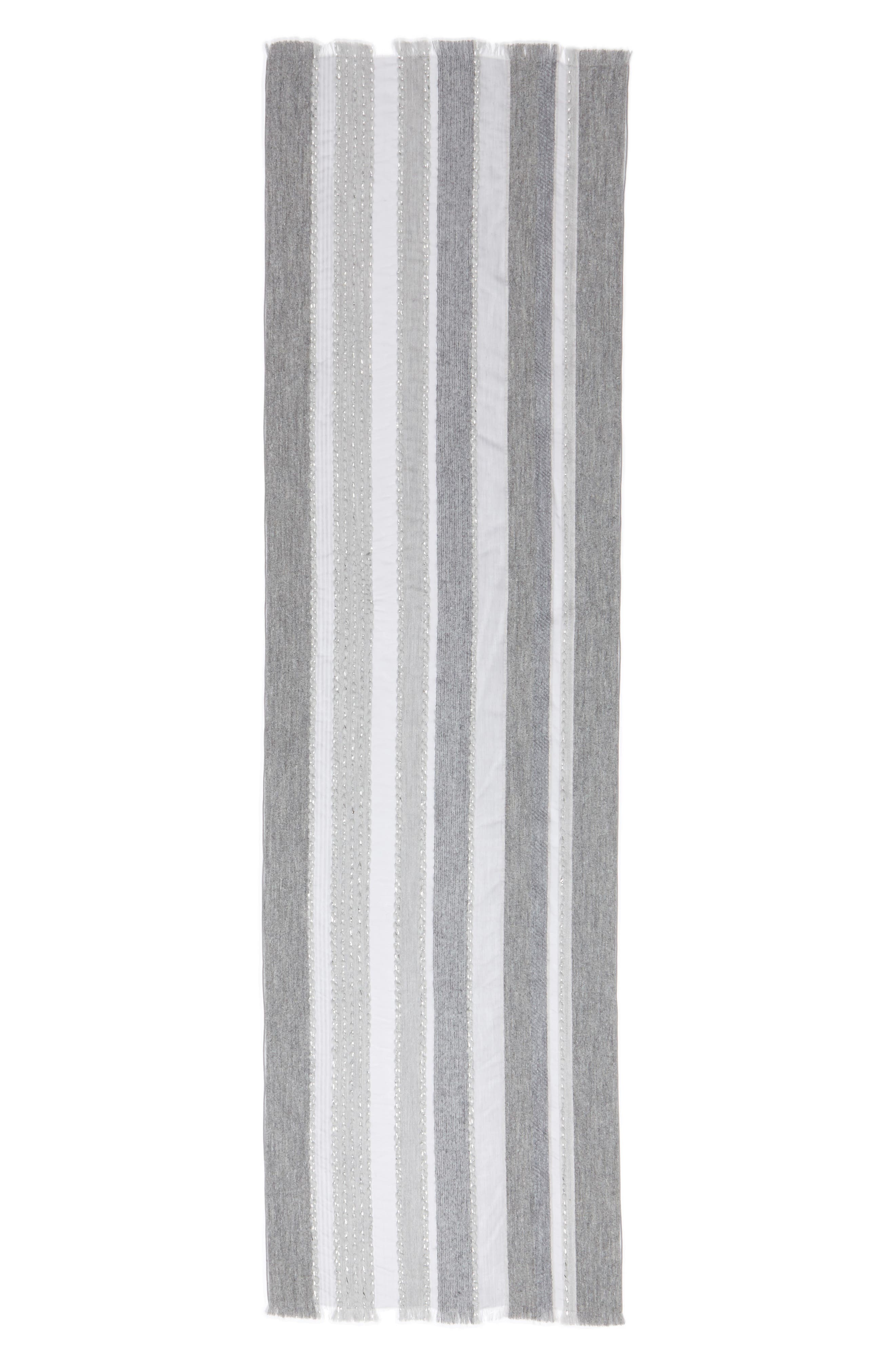 Metallic Scarf,                             Main thumbnail 1, color,                             Grey