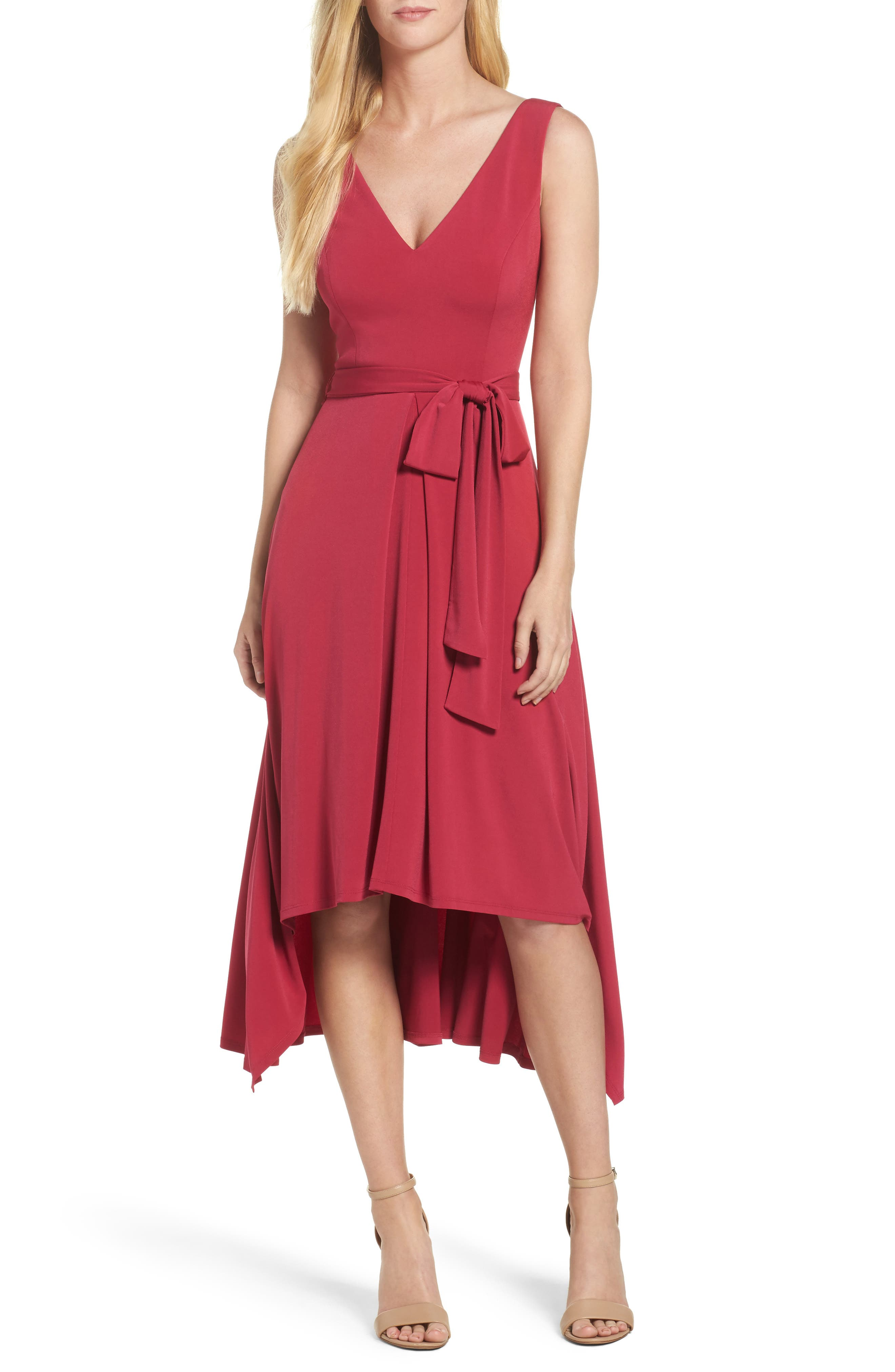 Vince Camuto Sleeveless High/Low Dress