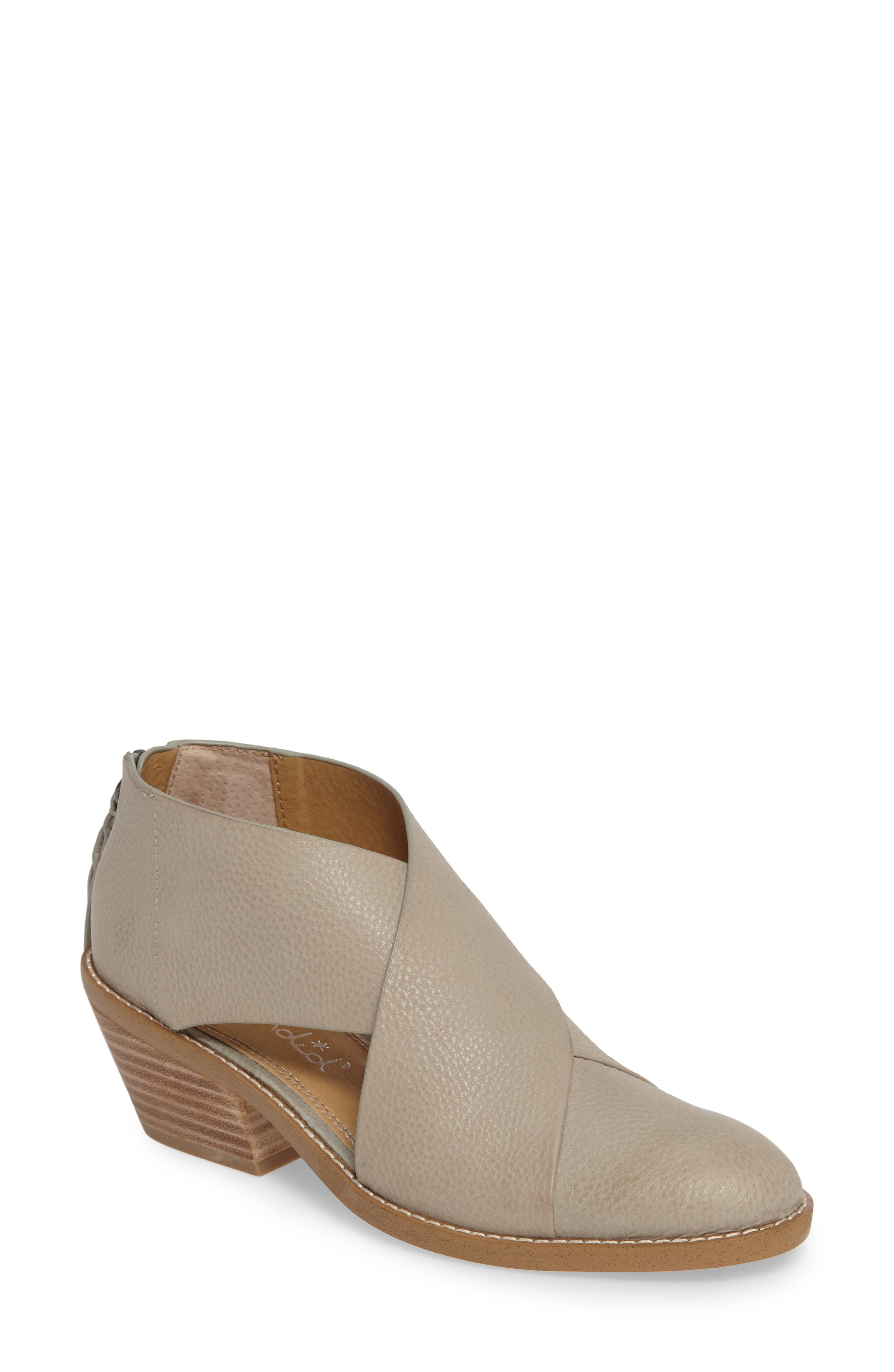 Danele Cutout Bootie,                         Main,                         color, Pearl Grey Leather