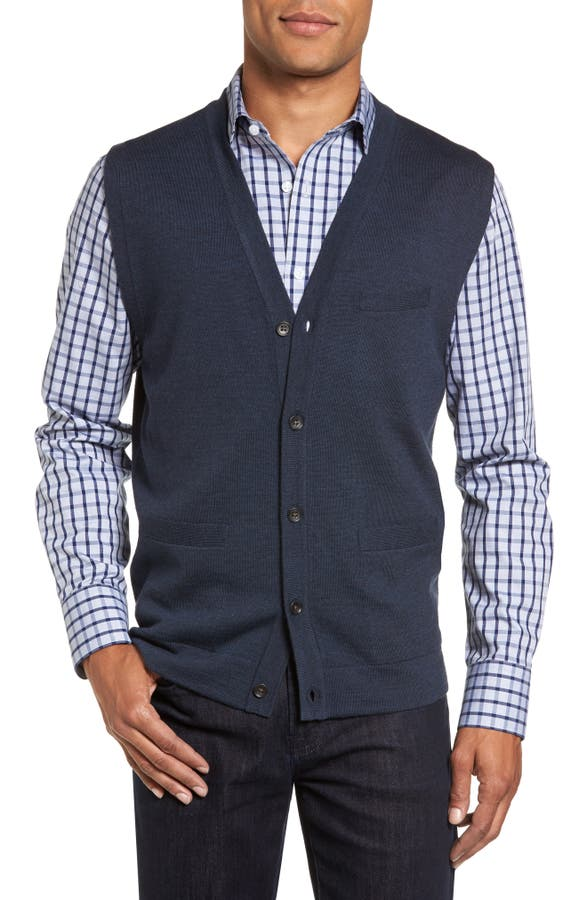Nordstrom Men's Shop Merino Button Front Sweater Vest | Nordstrom