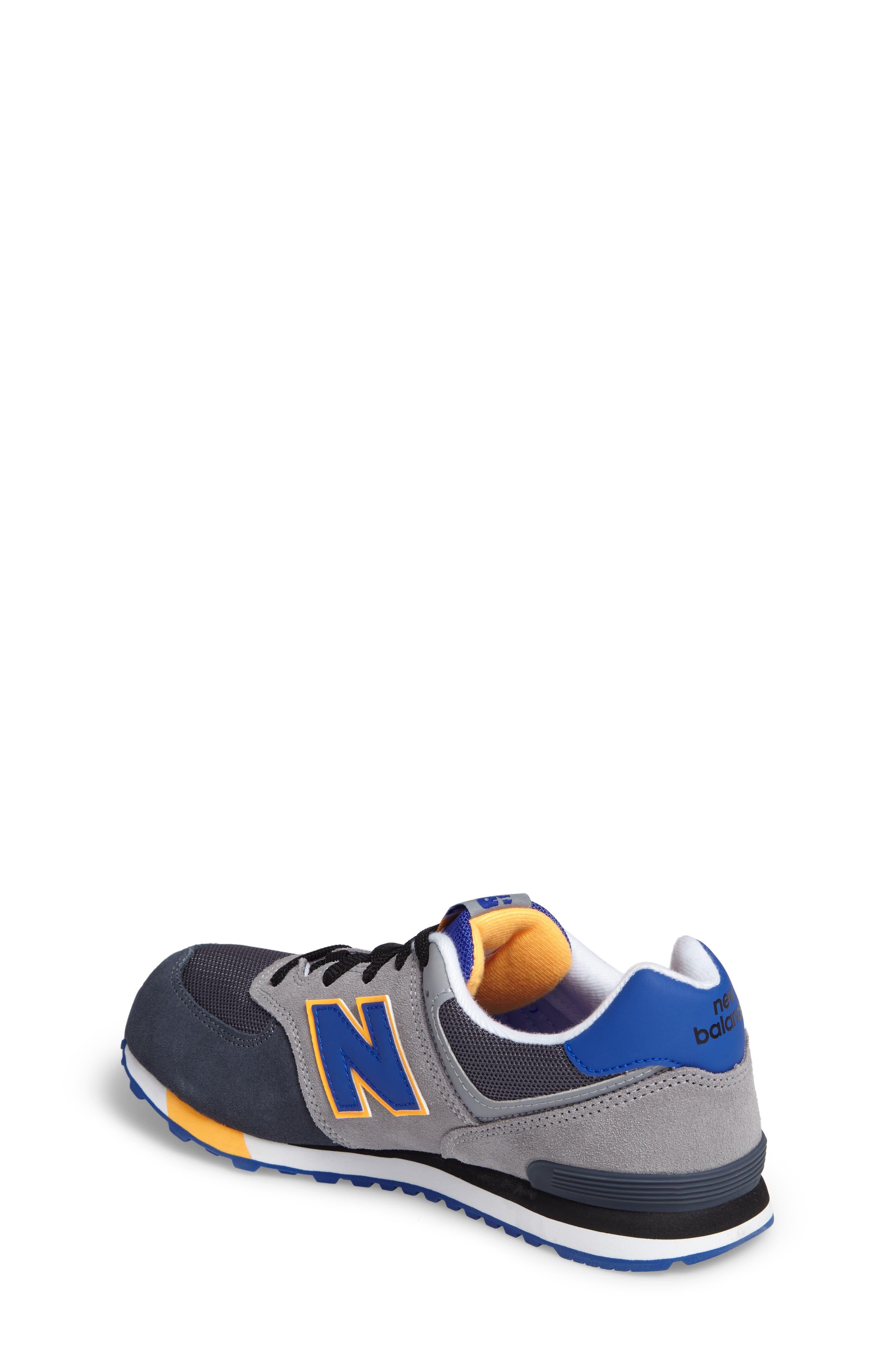 574 Cut & Paste Sneaker,                             Alternate thumbnail 2, color,                             Grey/ Blue
