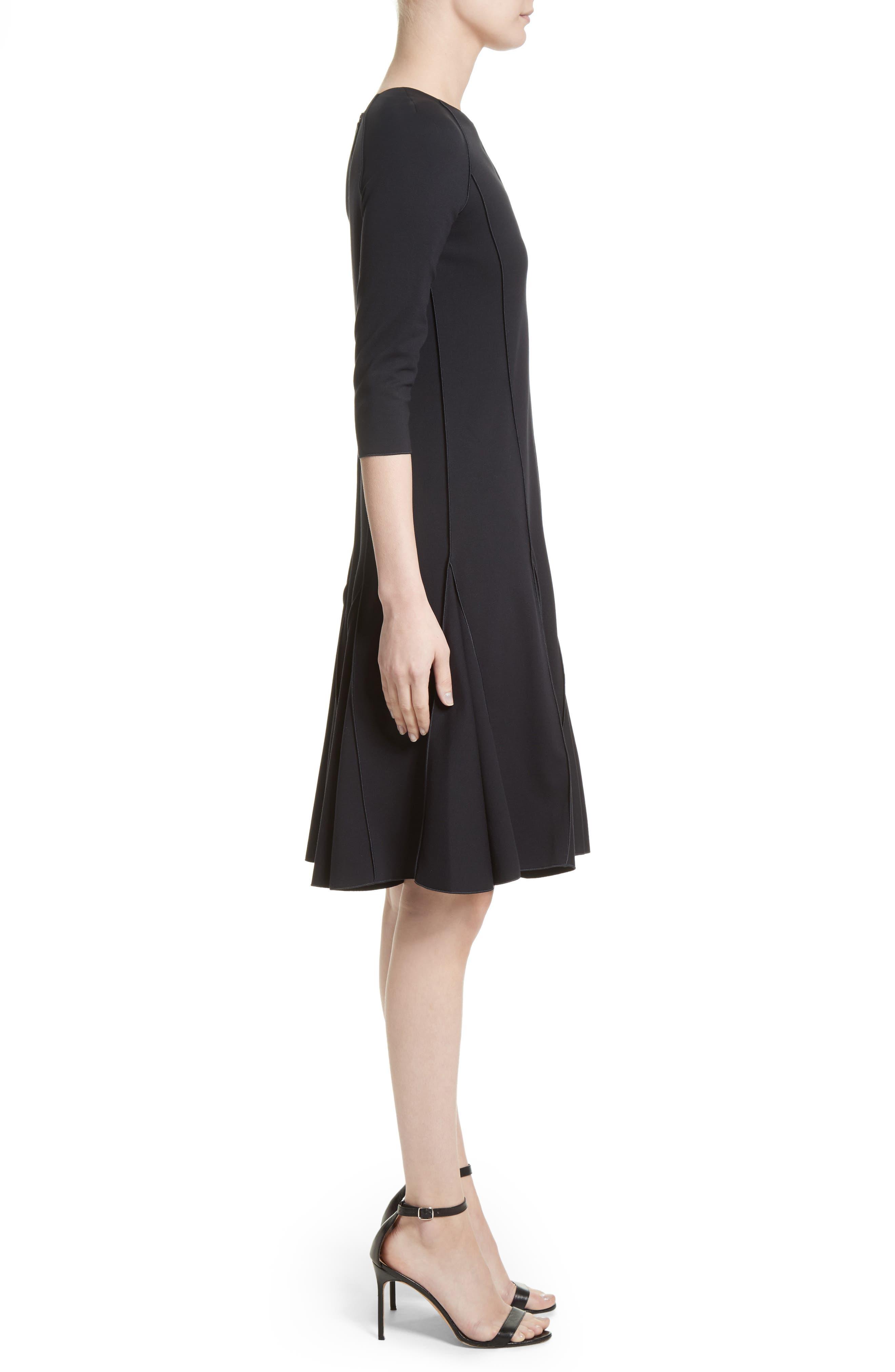 Alternate Image 5  - Armani Collezioni Seamed Jersey Fit & Flare Dress