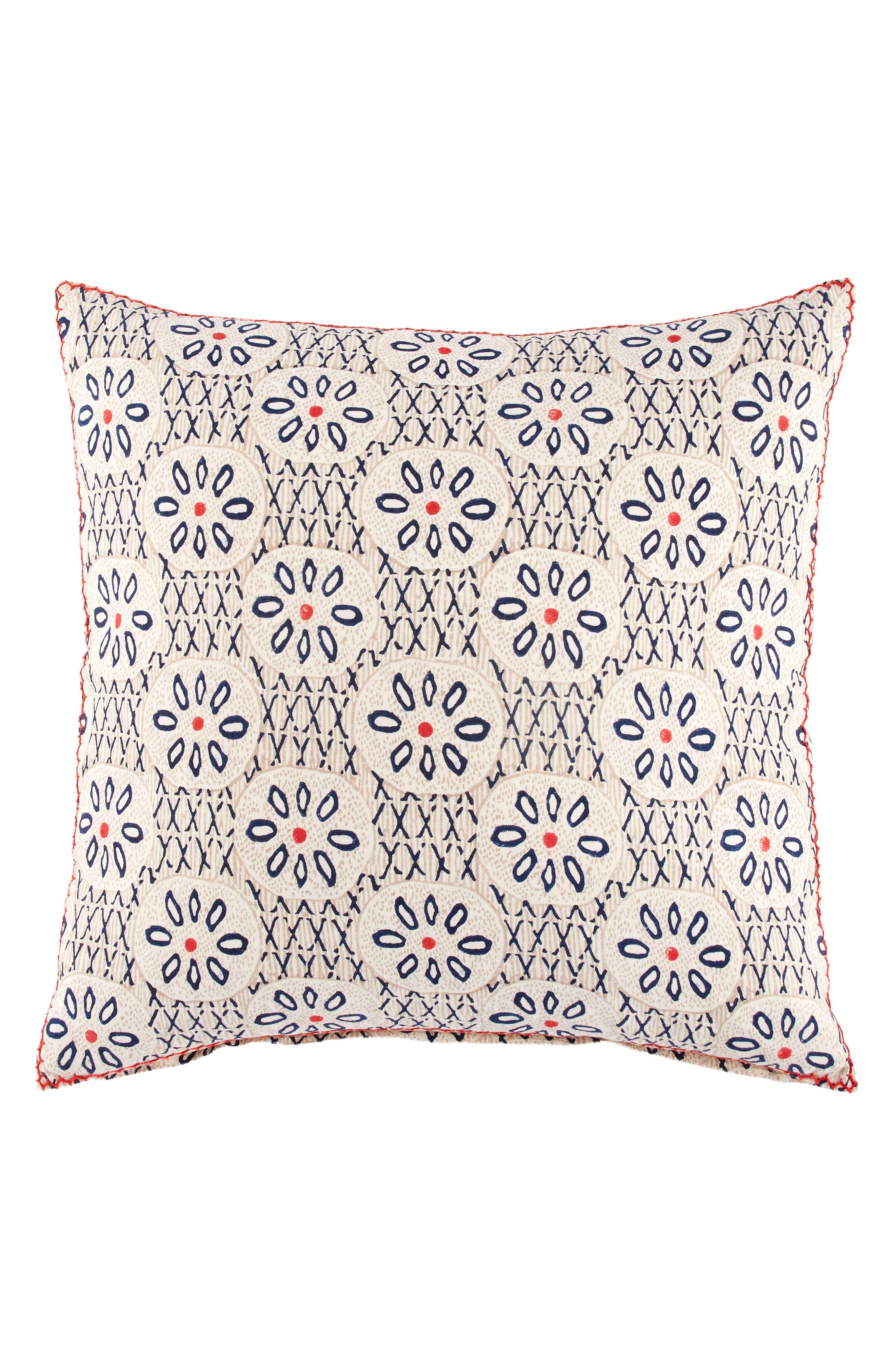 Gula Accent Pillow,                         Main,                         color, Indigo/ Coral