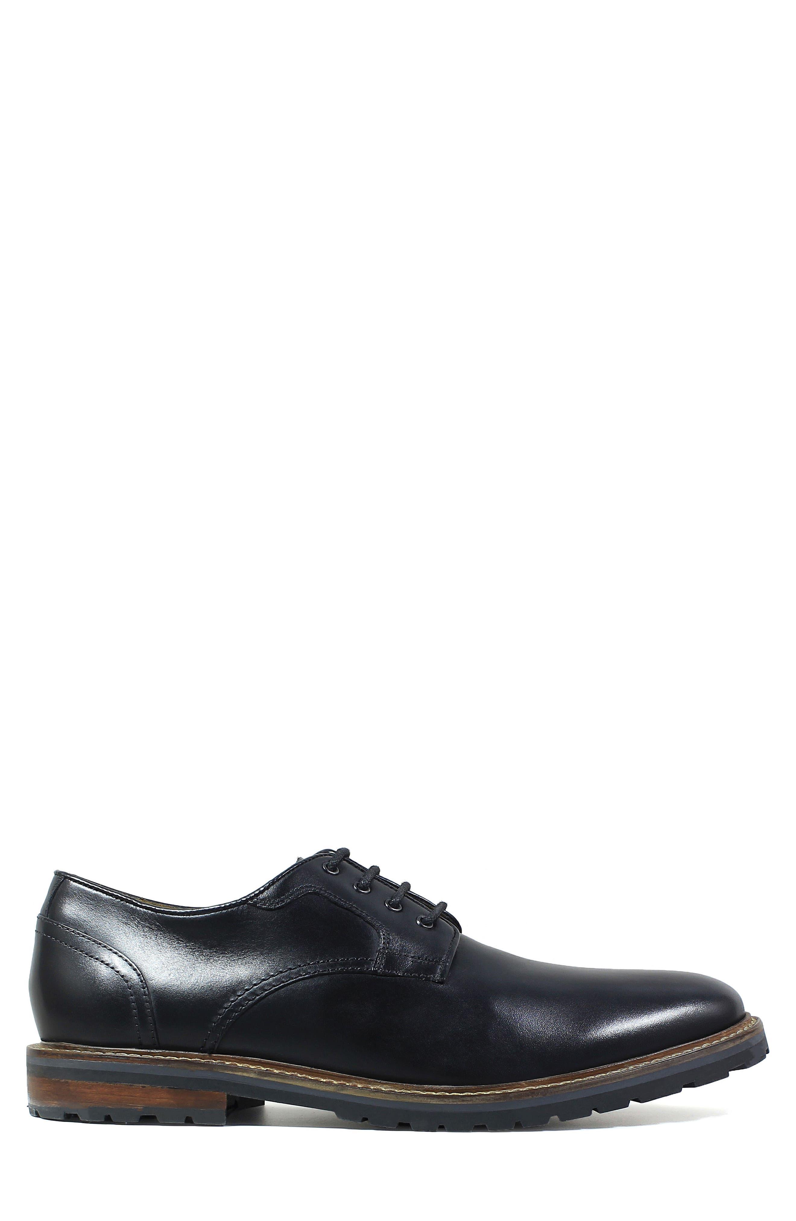 Estabrook Plain Toe Derby,                             Alternate thumbnail 3, color,                             Black