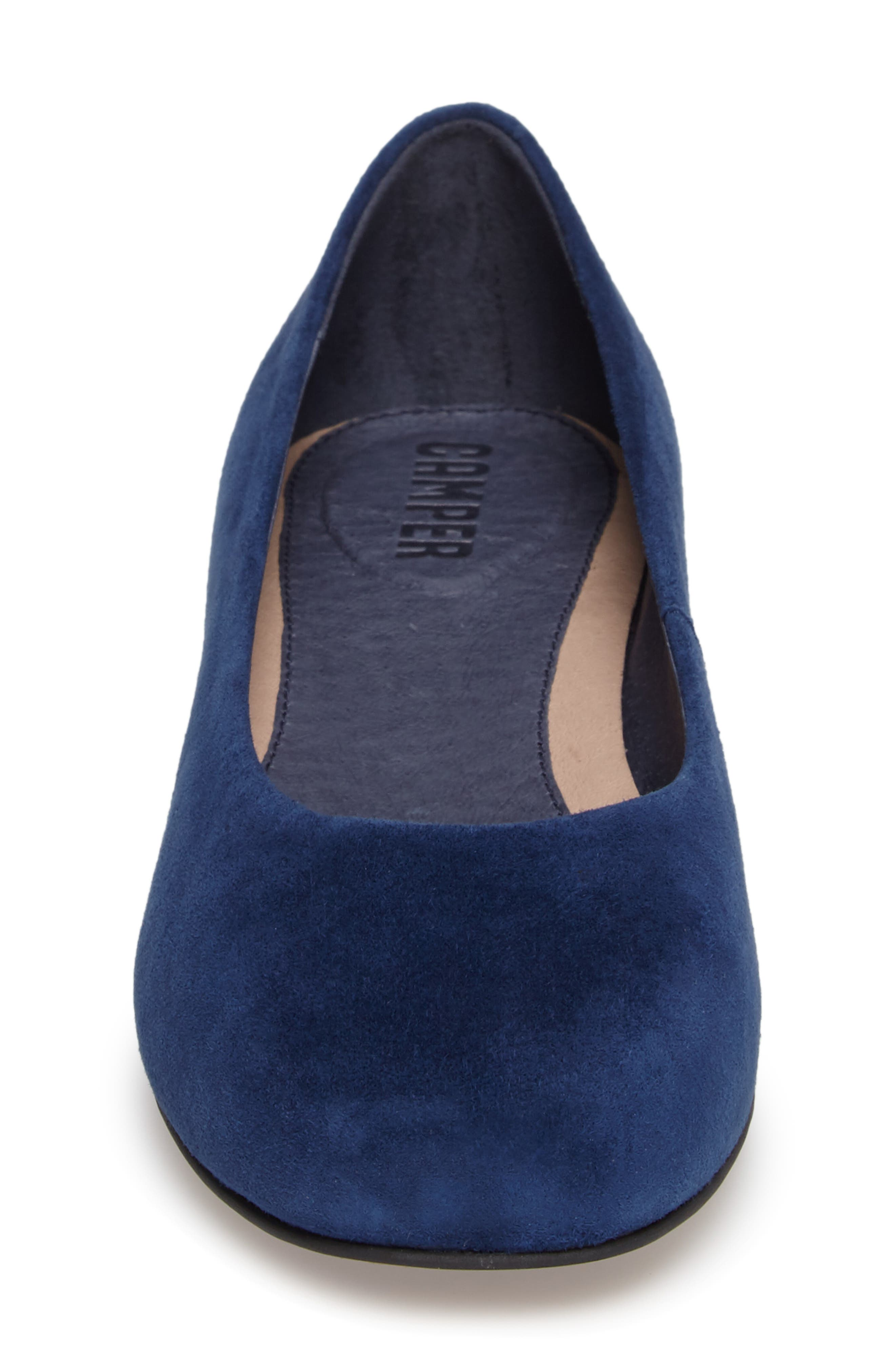 Serena Flat,                             Alternate thumbnail 4, color,                             Blue Leather