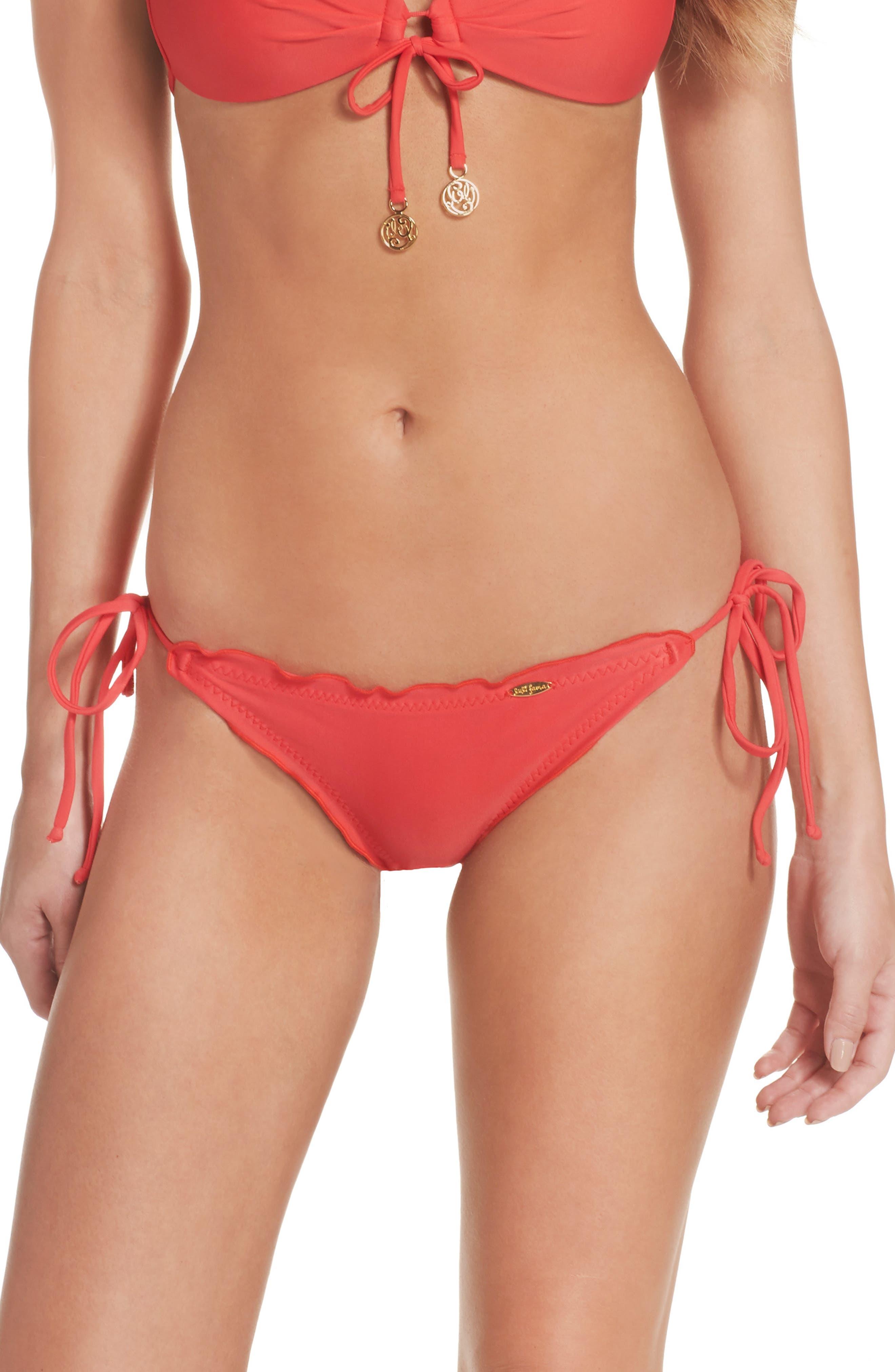 Alternate Image 2  - Luli Fama 'Wavy' Brazilian Side Tie Bikini Bottoms