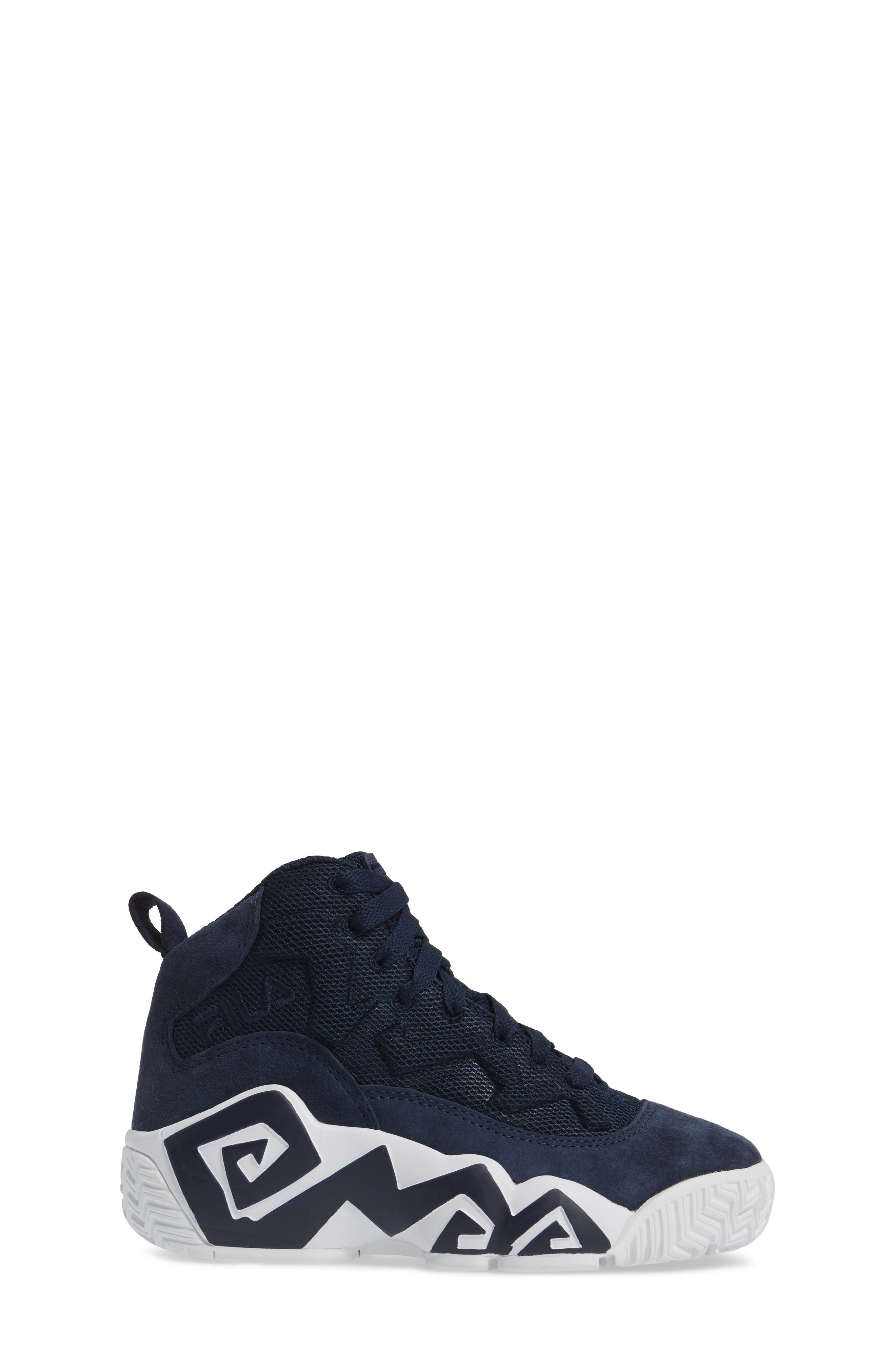 MB Mesh Sneaker,                             Alternate thumbnail 3, color,                             Navy/ White
