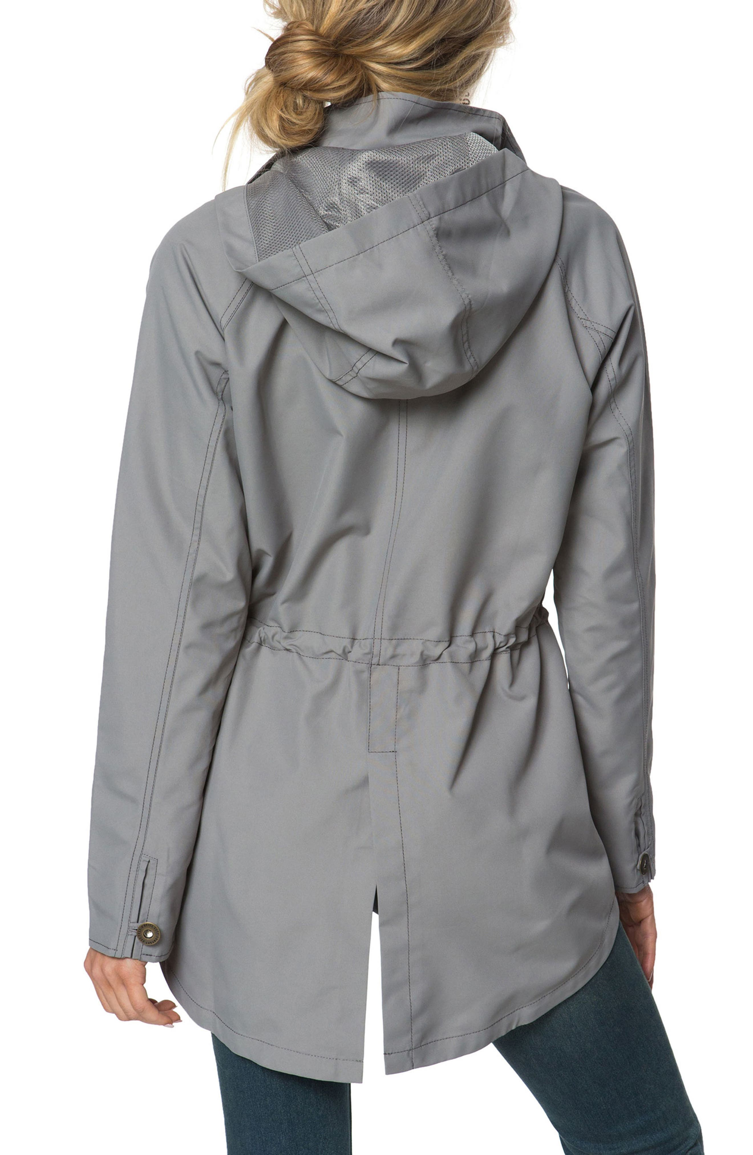 Wendy Hooded Jacket,                             Alternate thumbnail 2, color,                             Charcoal