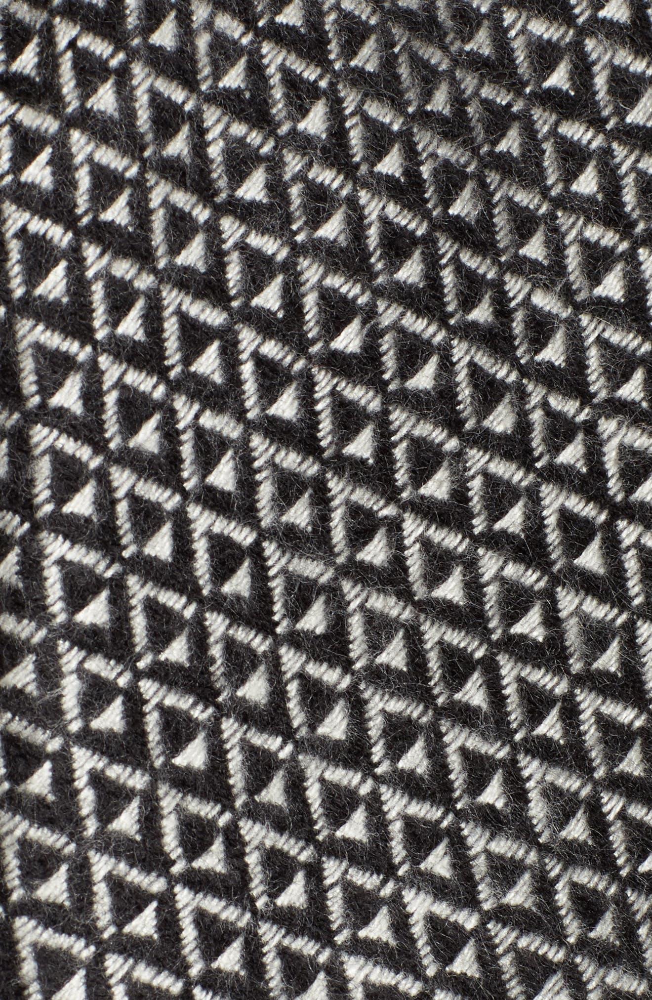 Myles Ombré Blanket Coat,                             Alternate thumbnail 5, color,                             Black