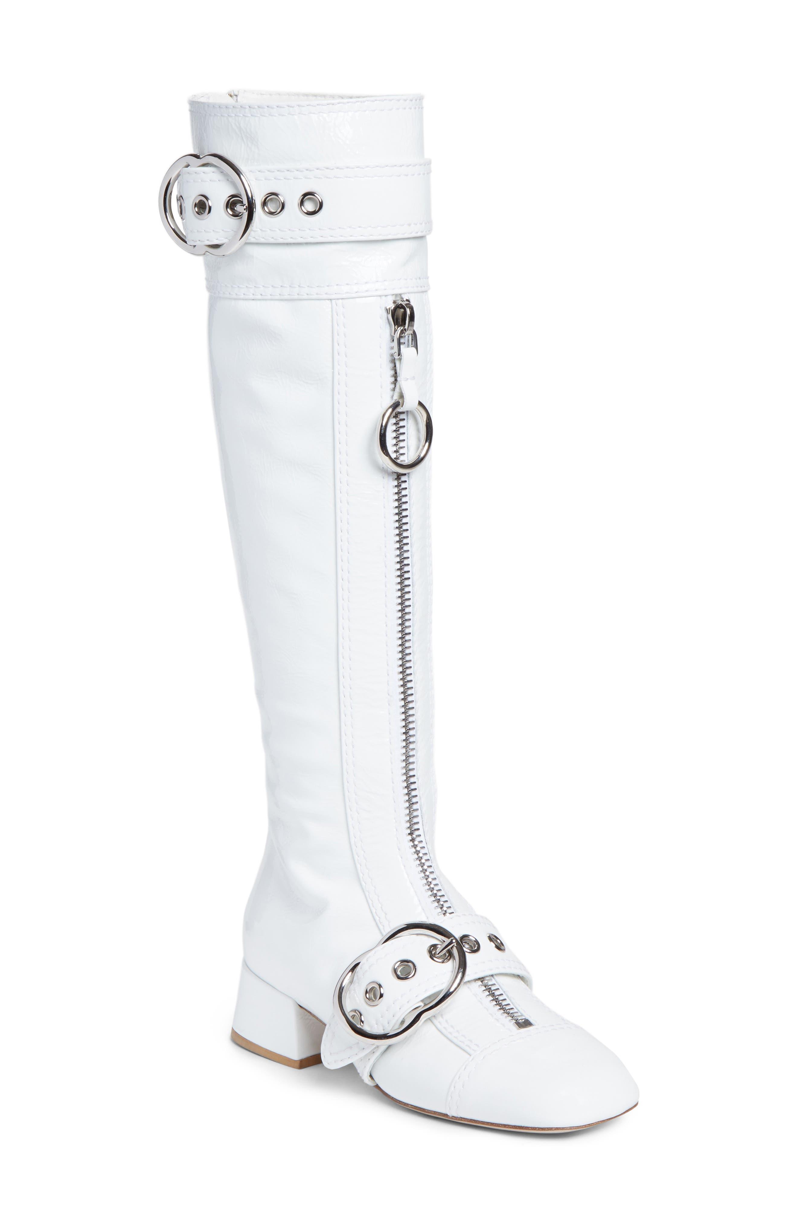 Miu Miu Buckle Tall Boot (Women)