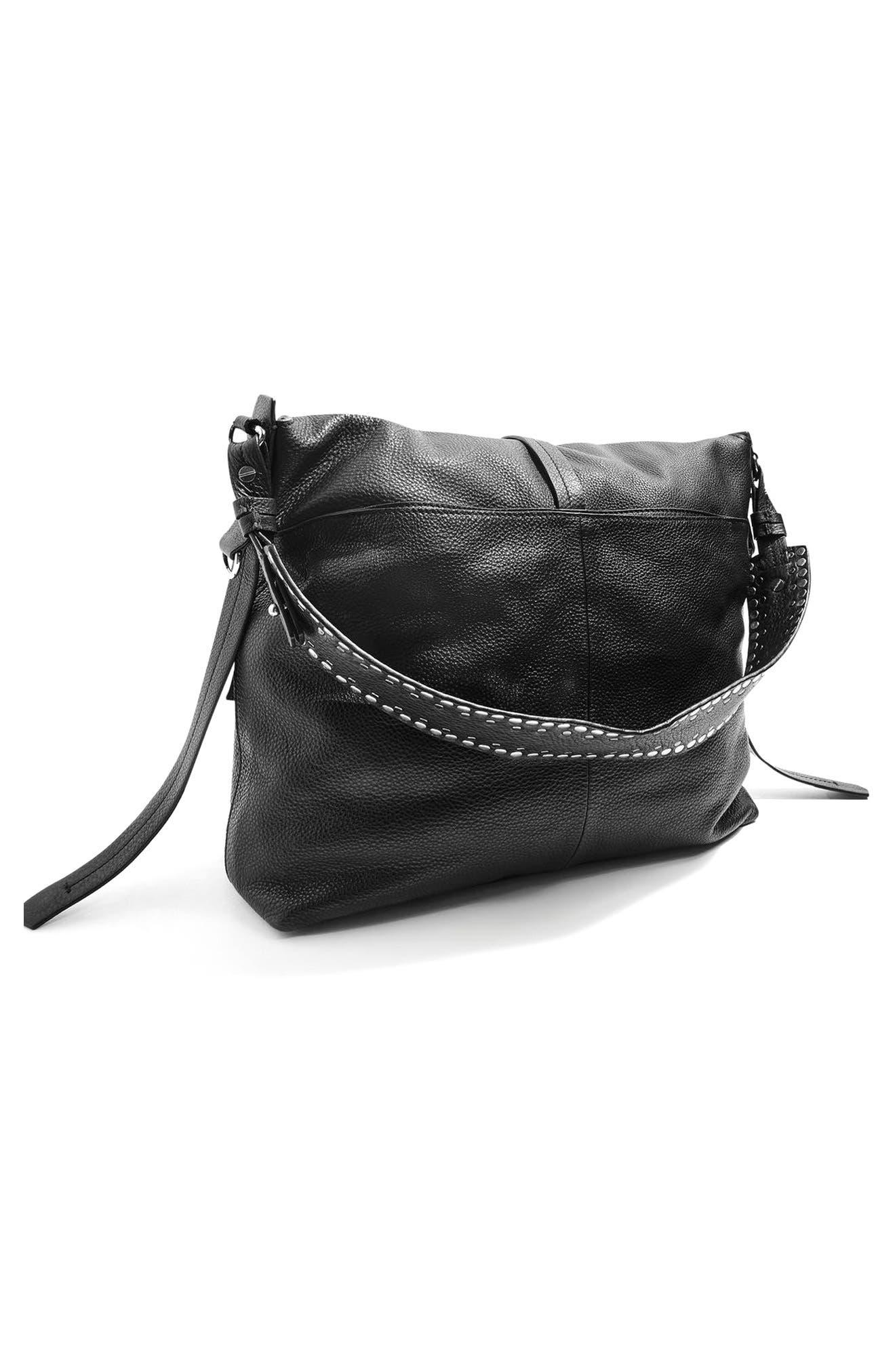 Alternate Image 3  - Topshop Premium Leather Hobo Bag