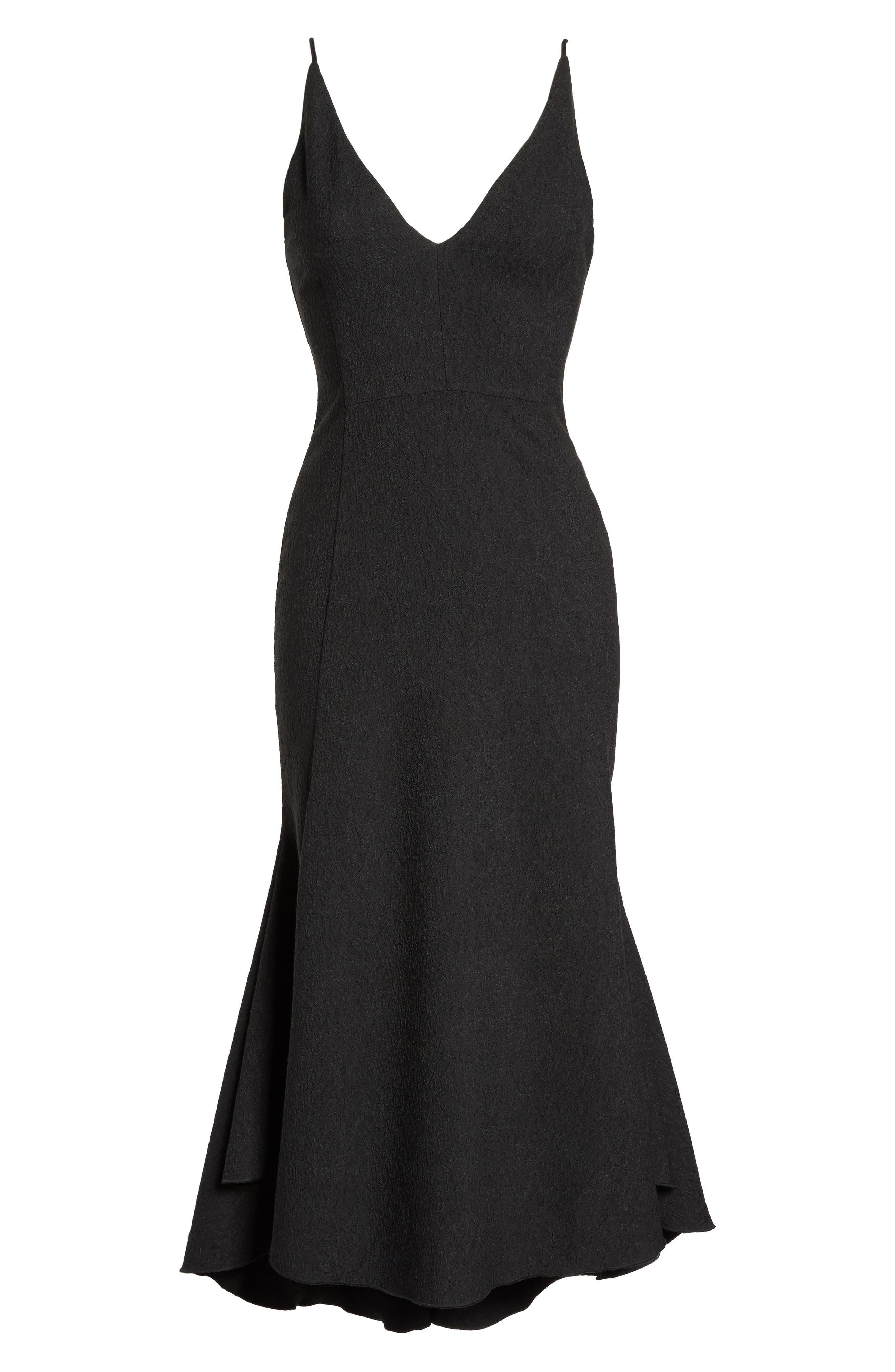 I Dream It Fit & Flare Dress,                             Alternate thumbnail 6, color,                             Black
