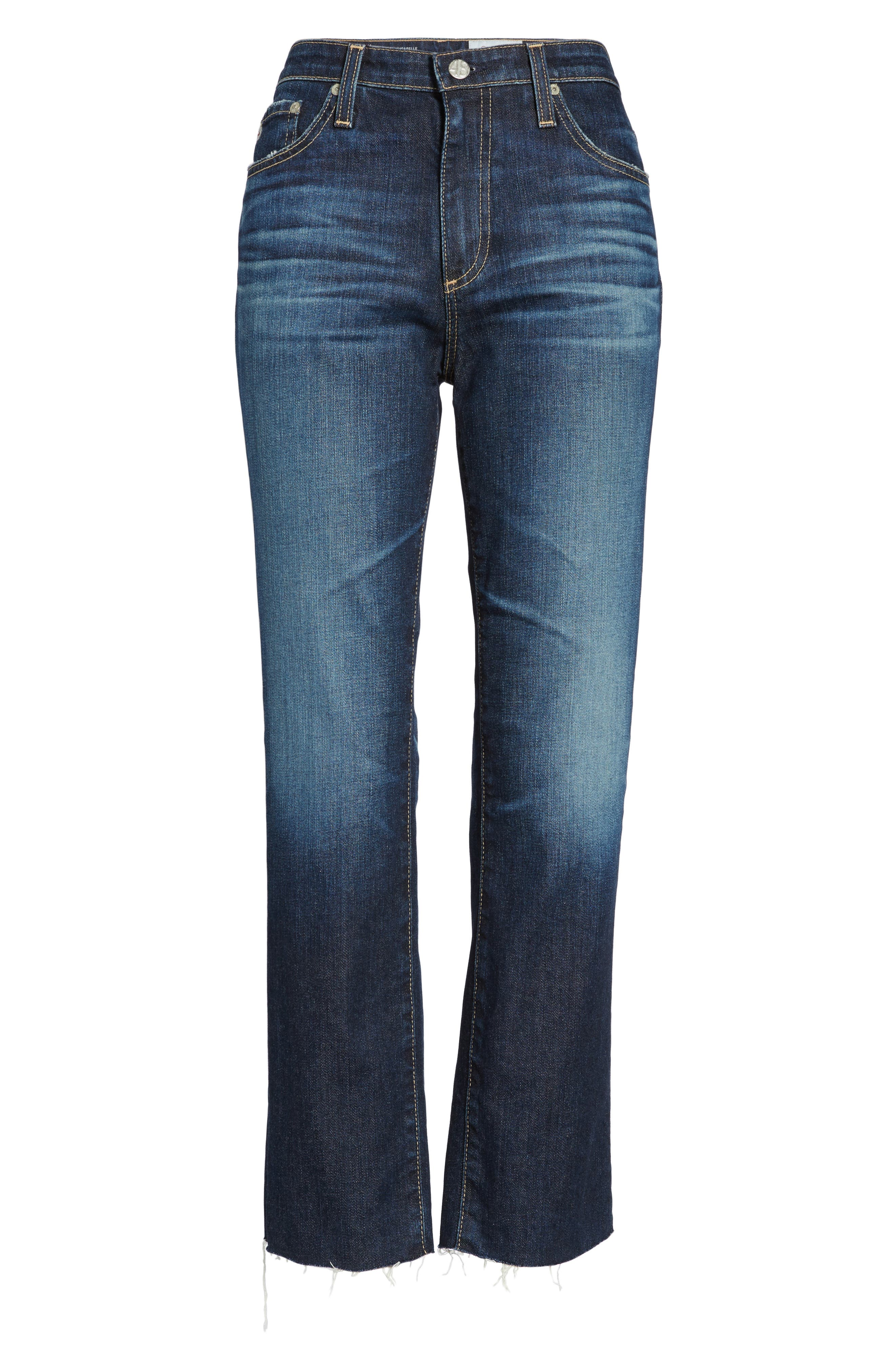 Alternate Image 6  - AG The Isabelle Crop Straight Leg Jeans (9 Years Amendment)