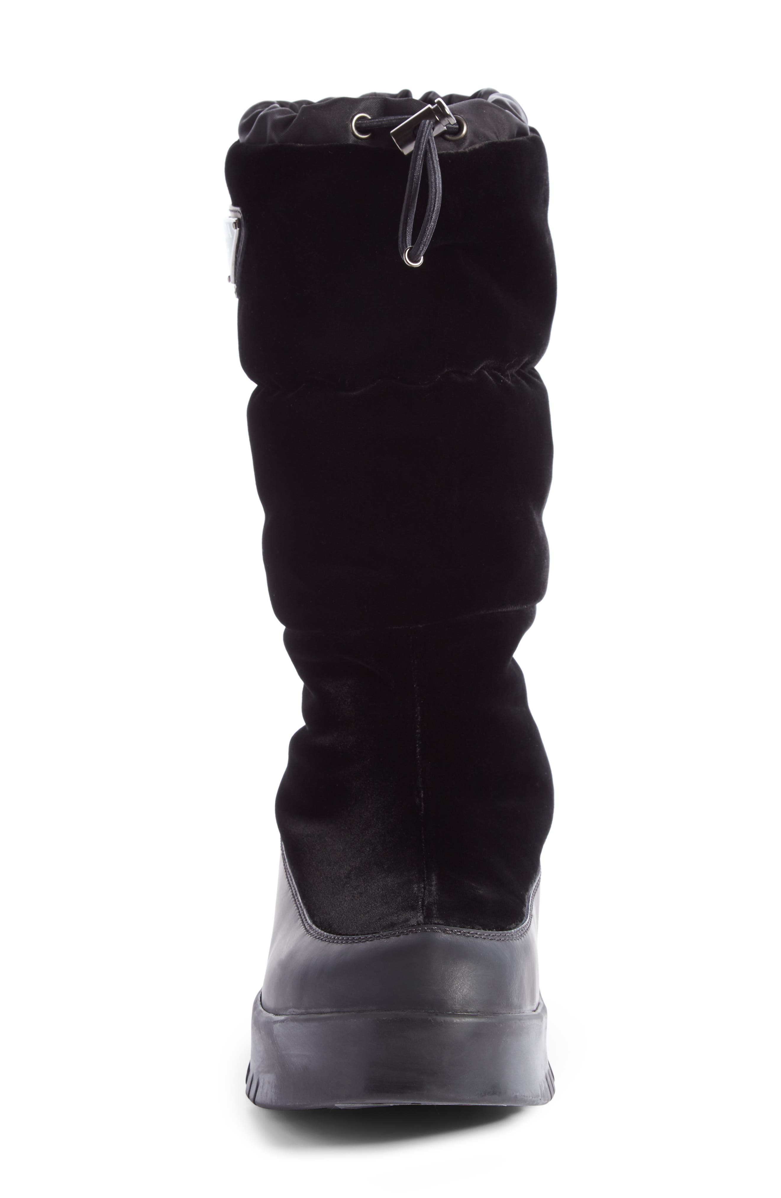 Logo Flatform Snow Boot,                             Alternate thumbnail 3, color,                             Black